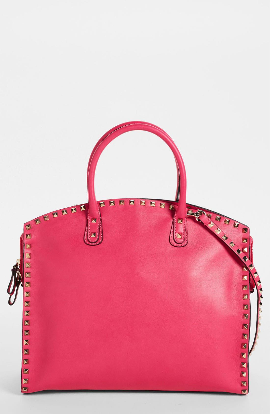 Alternate Image 1 Selected - Valentino 'Rockstud' Leather Dome Satchel