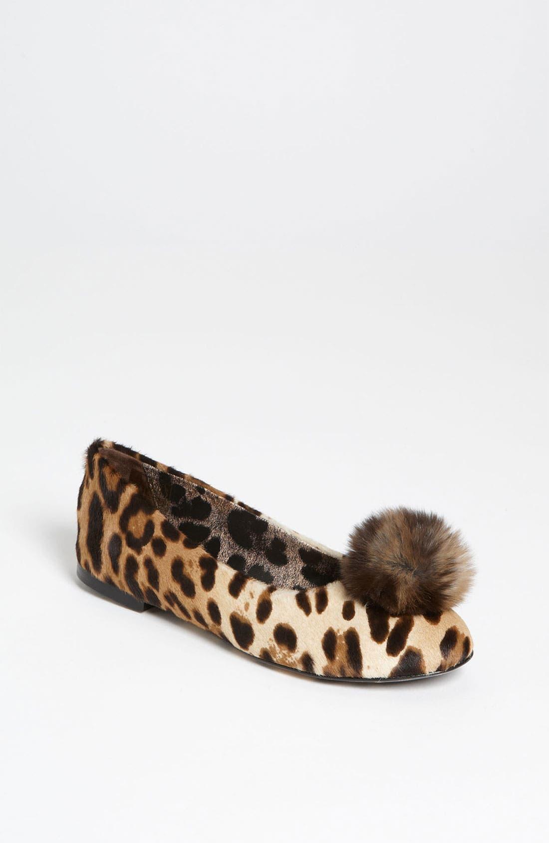 Alternate Image 1 Selected - Dolce&Gabbana Animal Print Flat (Toddler, Little Kid & Big Kid)