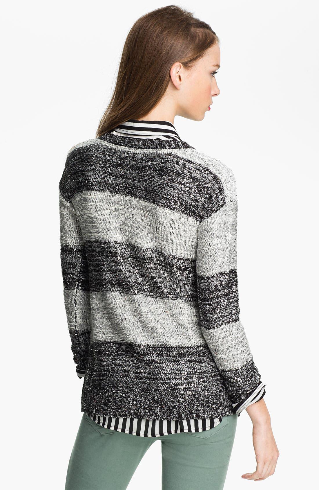 Alternate Image 2  - One A Sequin Stripe Sweater