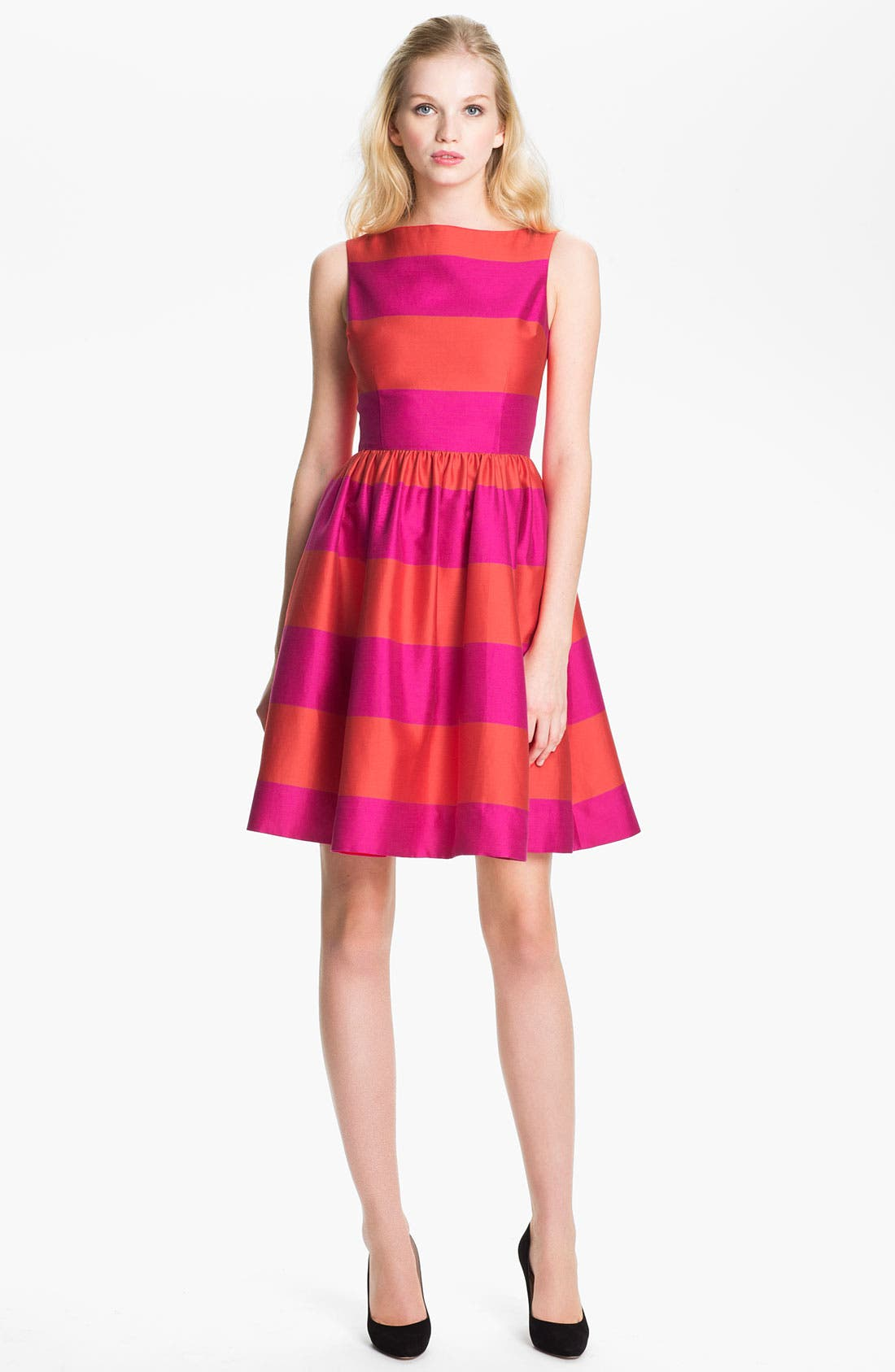 Main Image - kate spade new york 'carolyn' stripe fit & flare dress