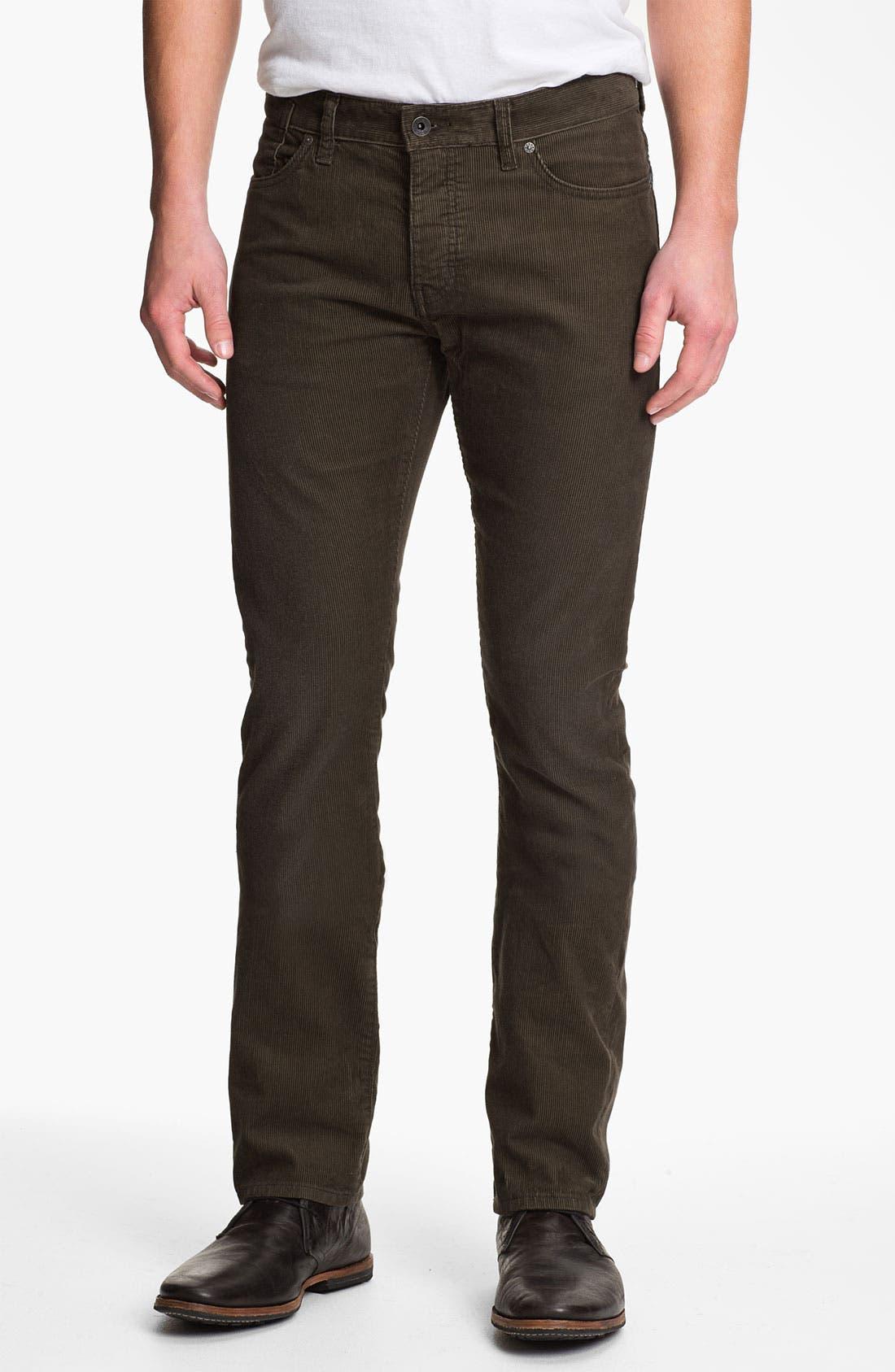 Main Image - John Varvatos Star USA 'Bowery' Slim Straight Leg Corduroy Pants