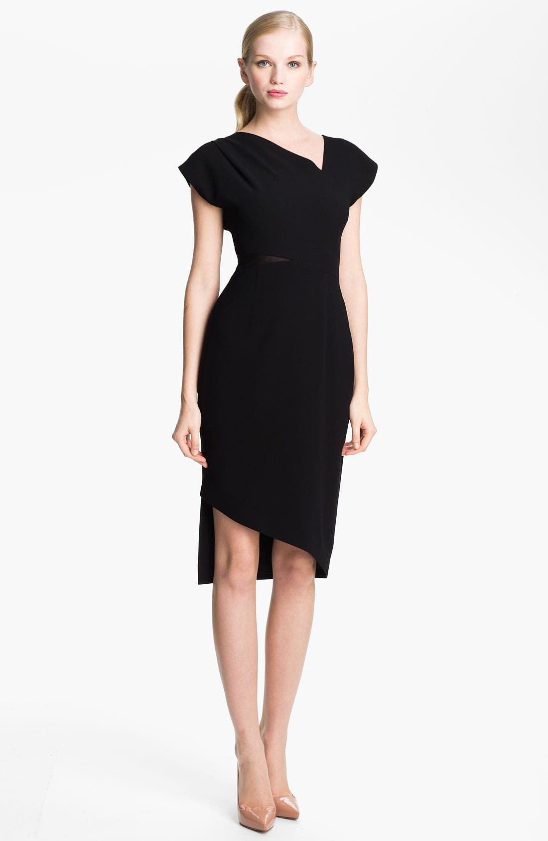 Alternate Image 1 Selected - Rachel Roy Mesh Insert Sheath Dress