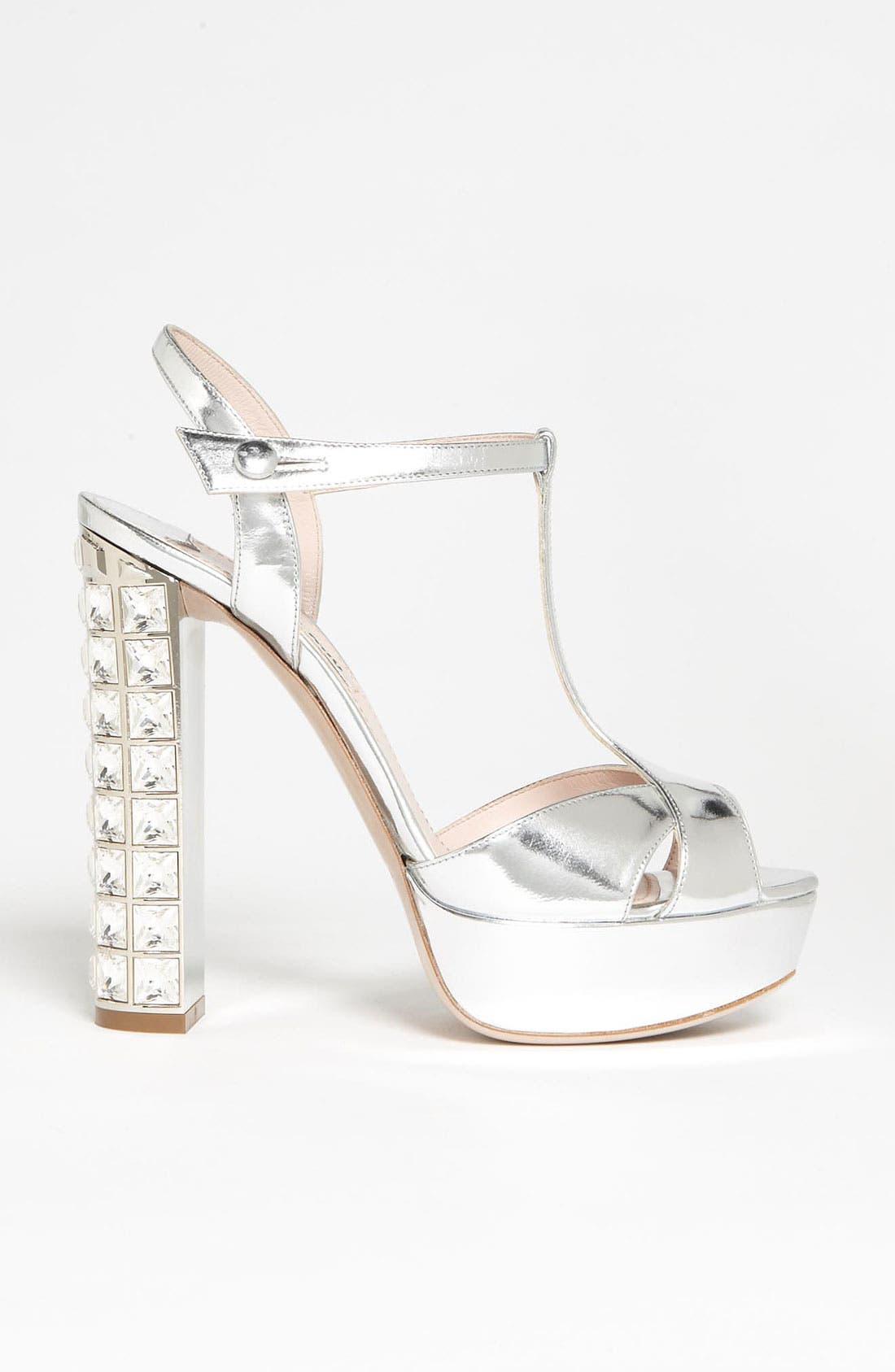 Alternate Image 4  - Miu Miu Crystal Heel Sandal
