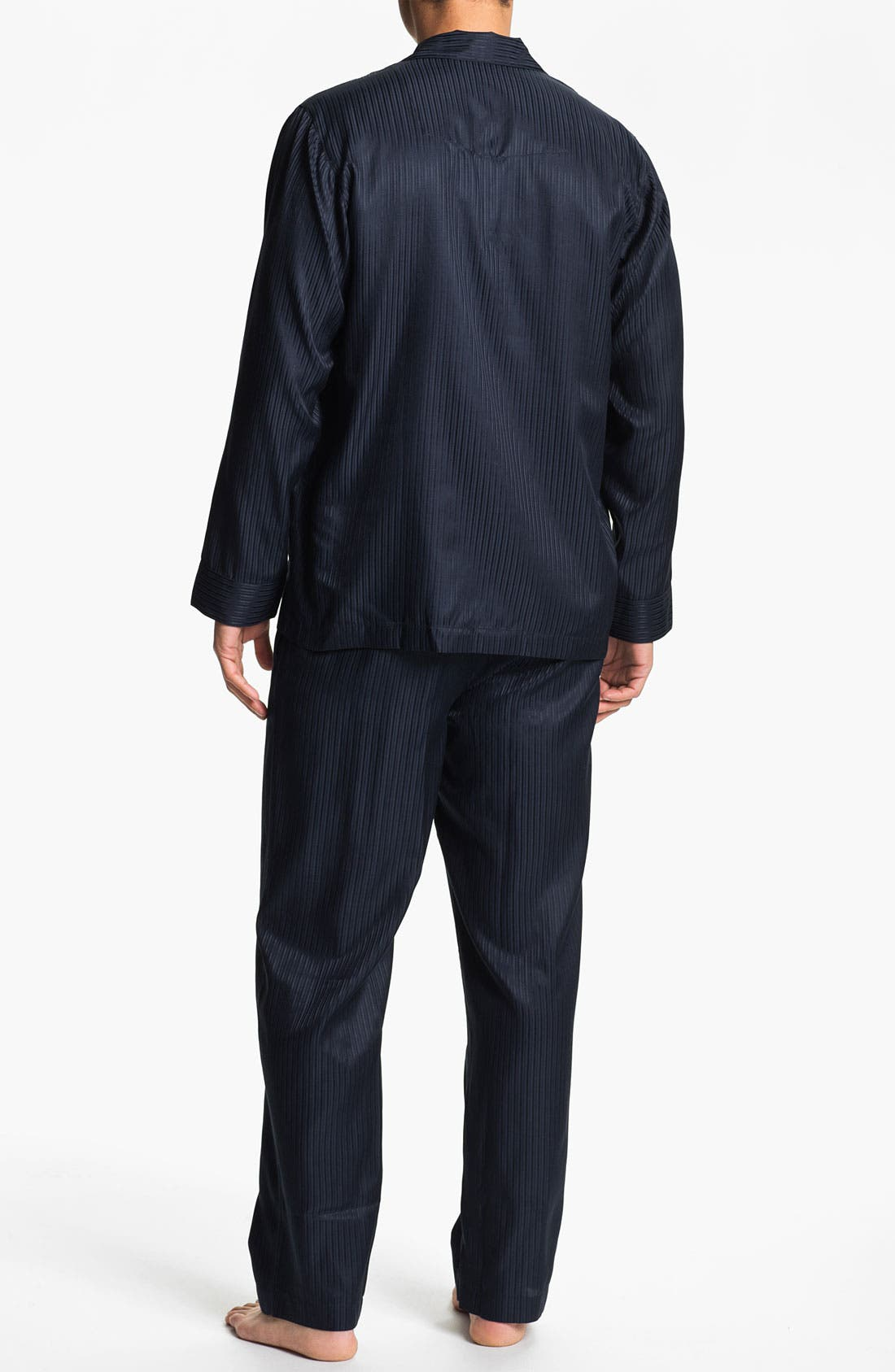 Alternate Image 2  - BOSS Black 'Innovation 4' Woven Silk & Cotton Pajama Set