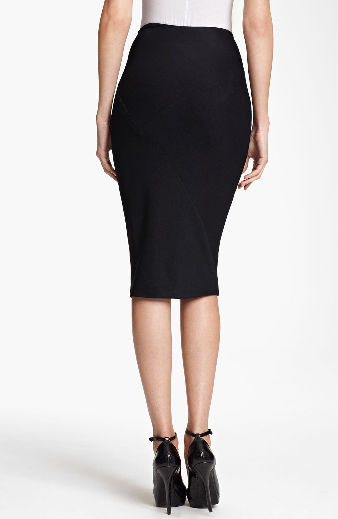 Alternate Image 2  - Donna Karan Collection Draped Double Knit Skirt