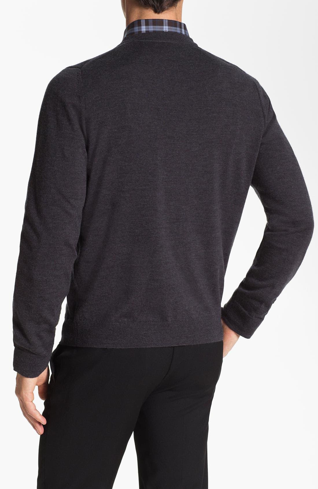 Alternate Image 2  - Nordstrom Merino Wool Button Cardigan