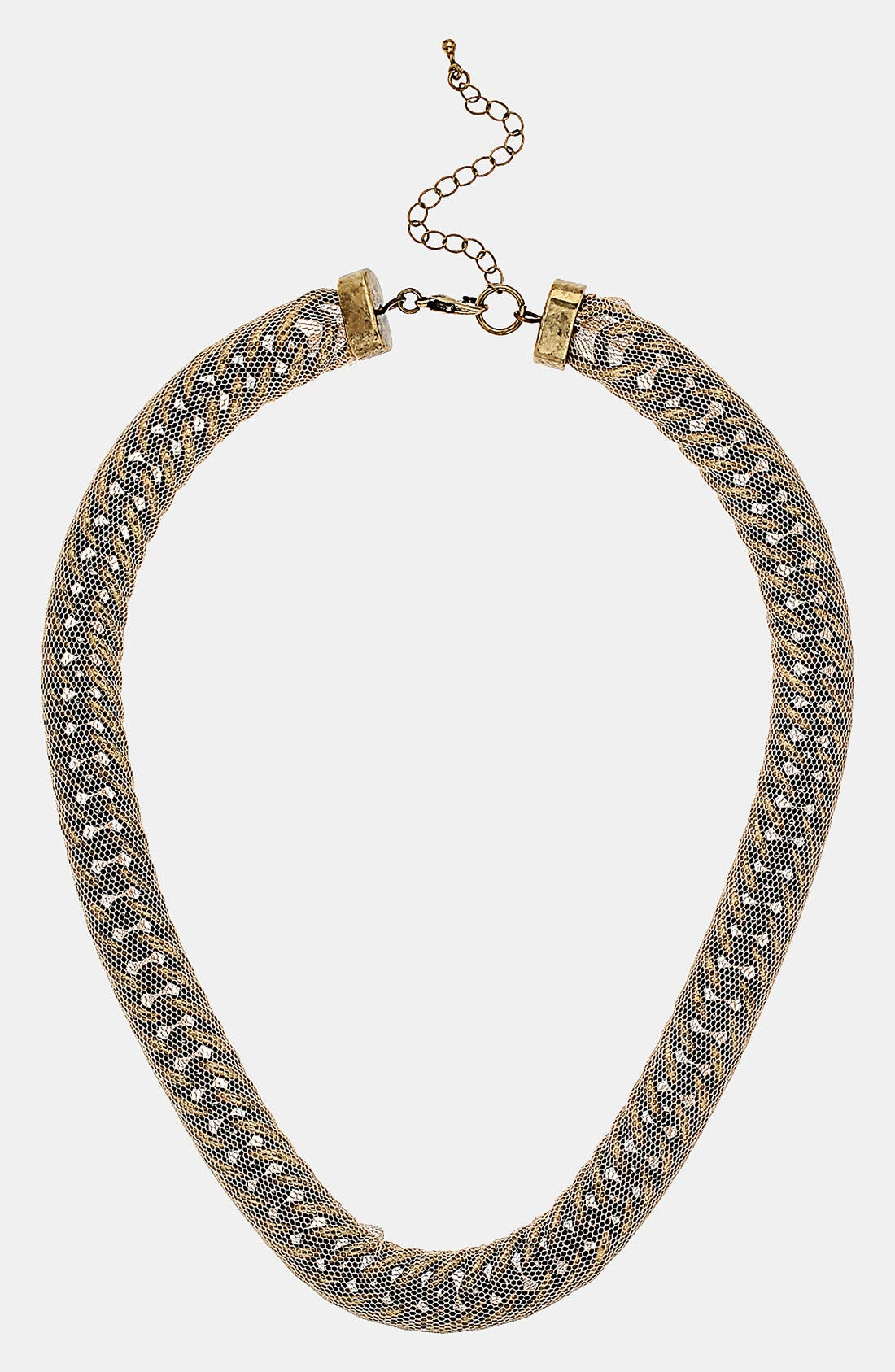 Alternate Image 1 Selected - Topshop Mesh Chain Necklace