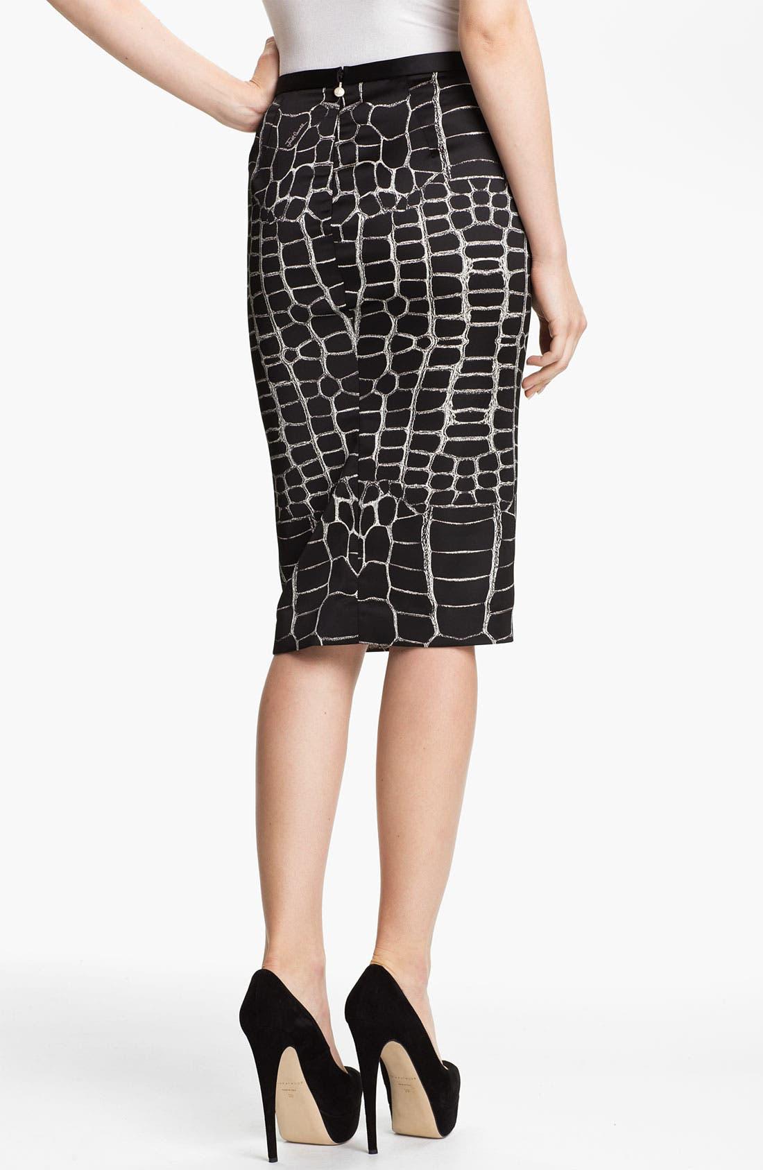 Alternate Image 2  - Just Cavalli Alligator Print Pencil Skirt