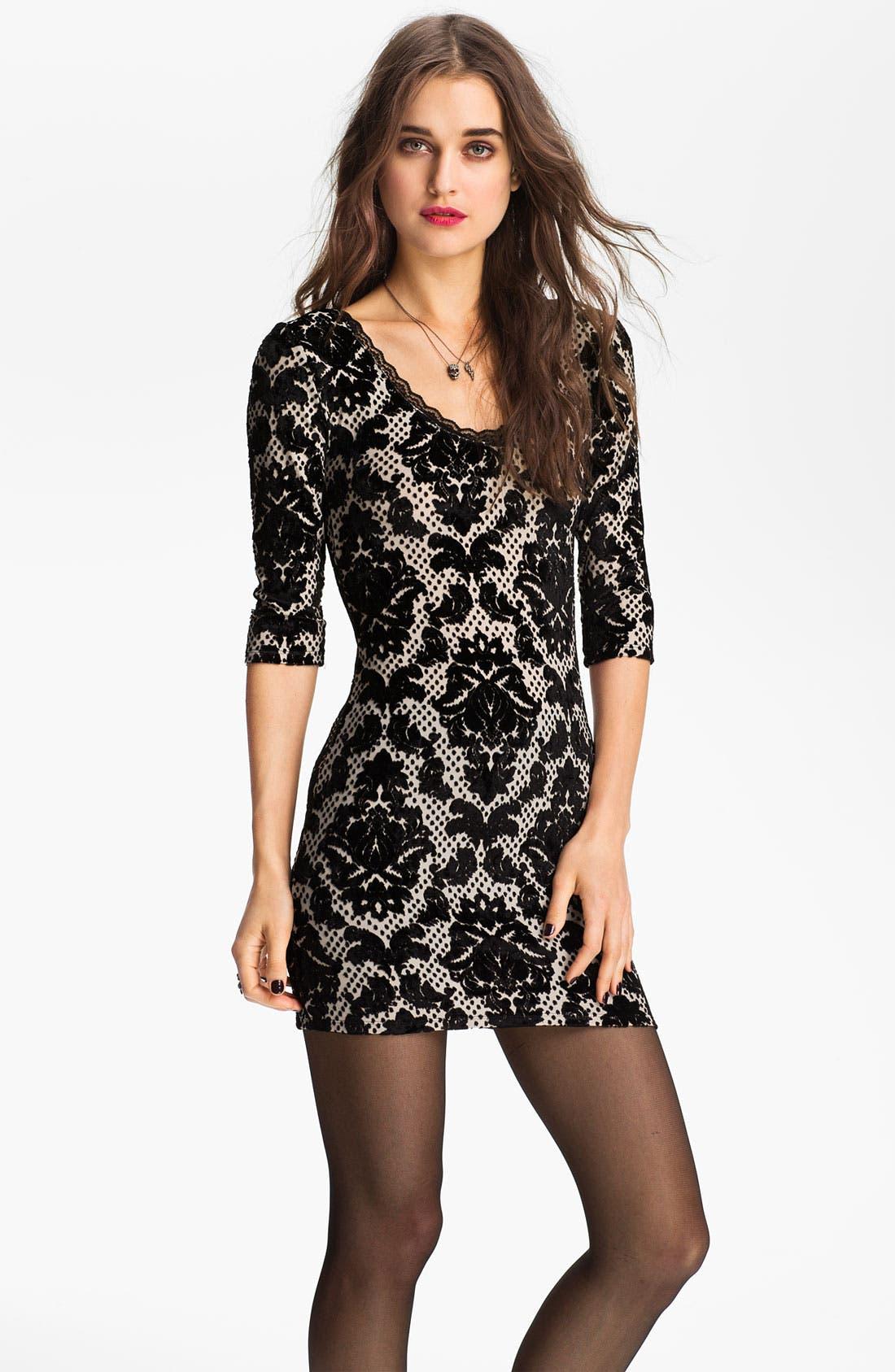 Alternate Image 1 Selected - Free People Velvet Damask Dress