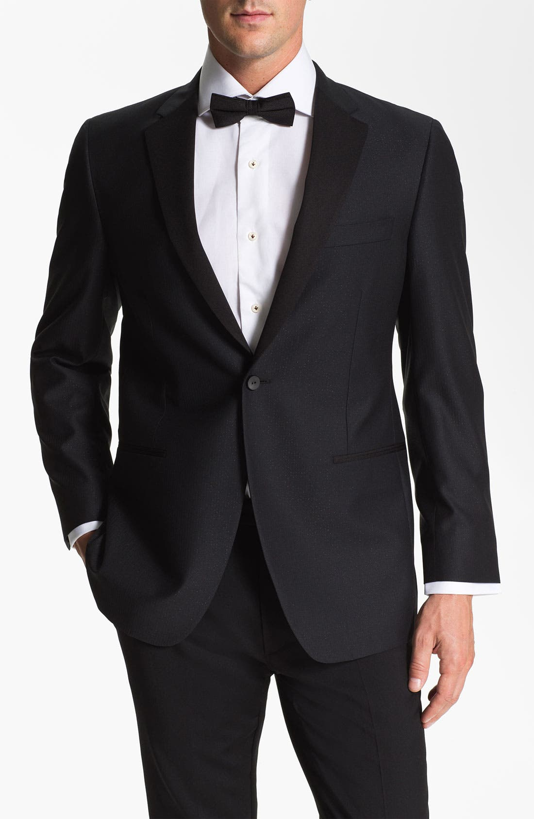 Main Image - Samuelsohn Stripe Dinner Jacket
