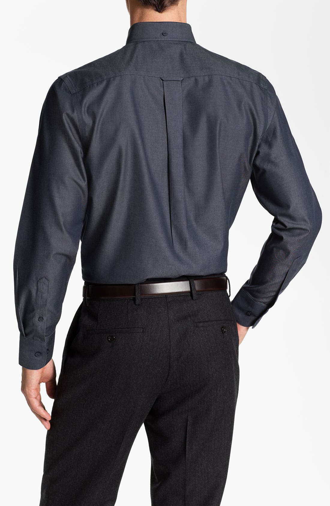 Alternate Image 2  - Nordstrom Traditional Fit Denim Sport Shirt