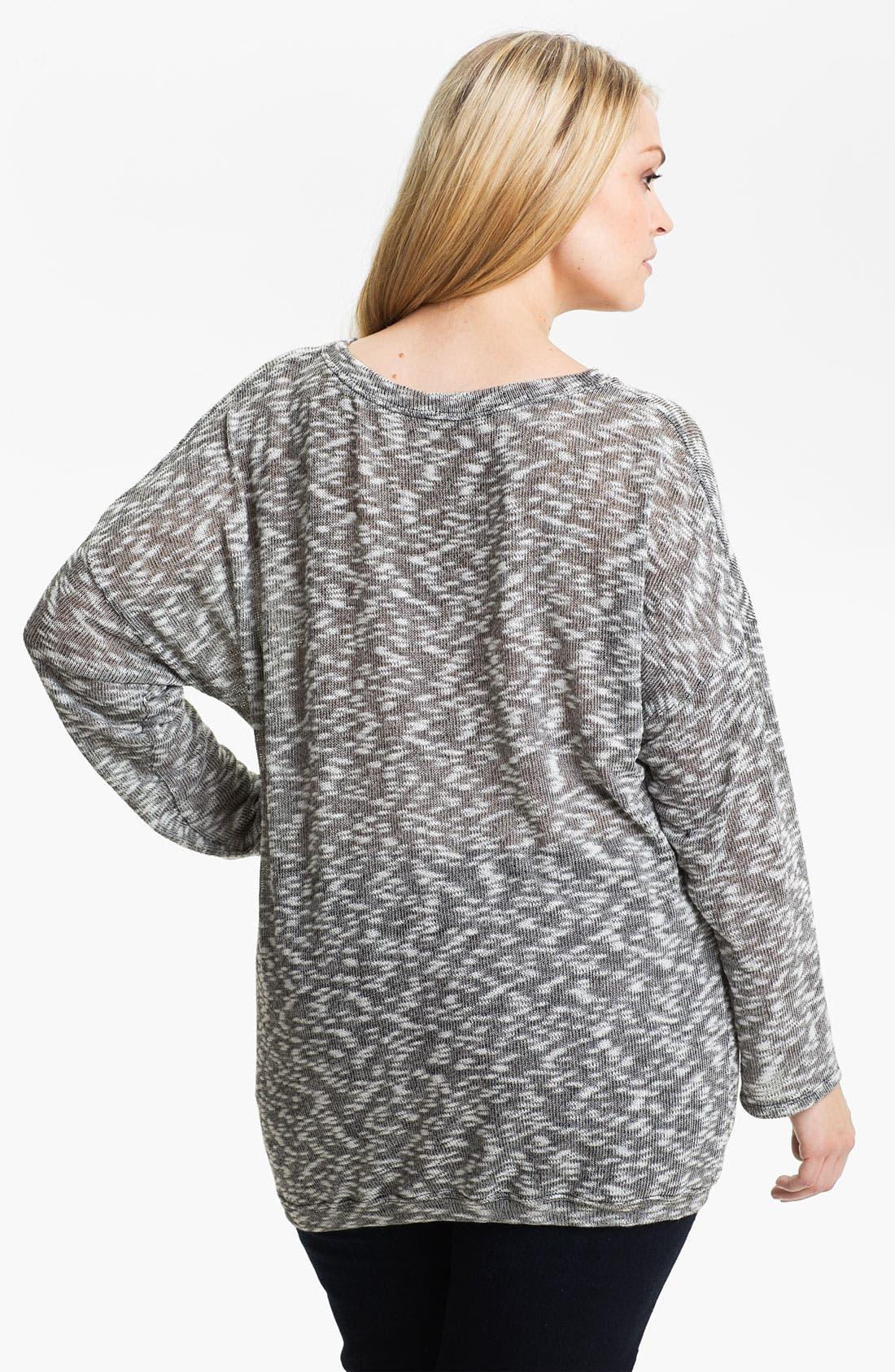 Alternate Image 2  - Madison & Berkeley Beaded Space Dye Sweater (Plus)
