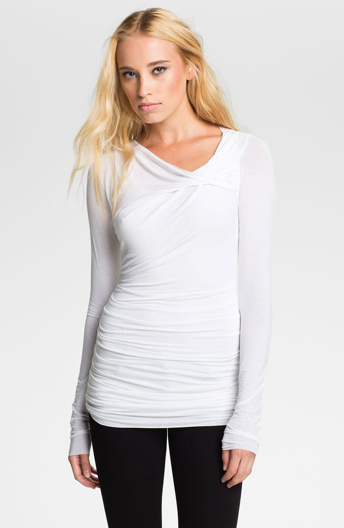 Alternate Image 1 Selected - Bailey 44 'Tie Breaker' Ruched Twist Neck Top