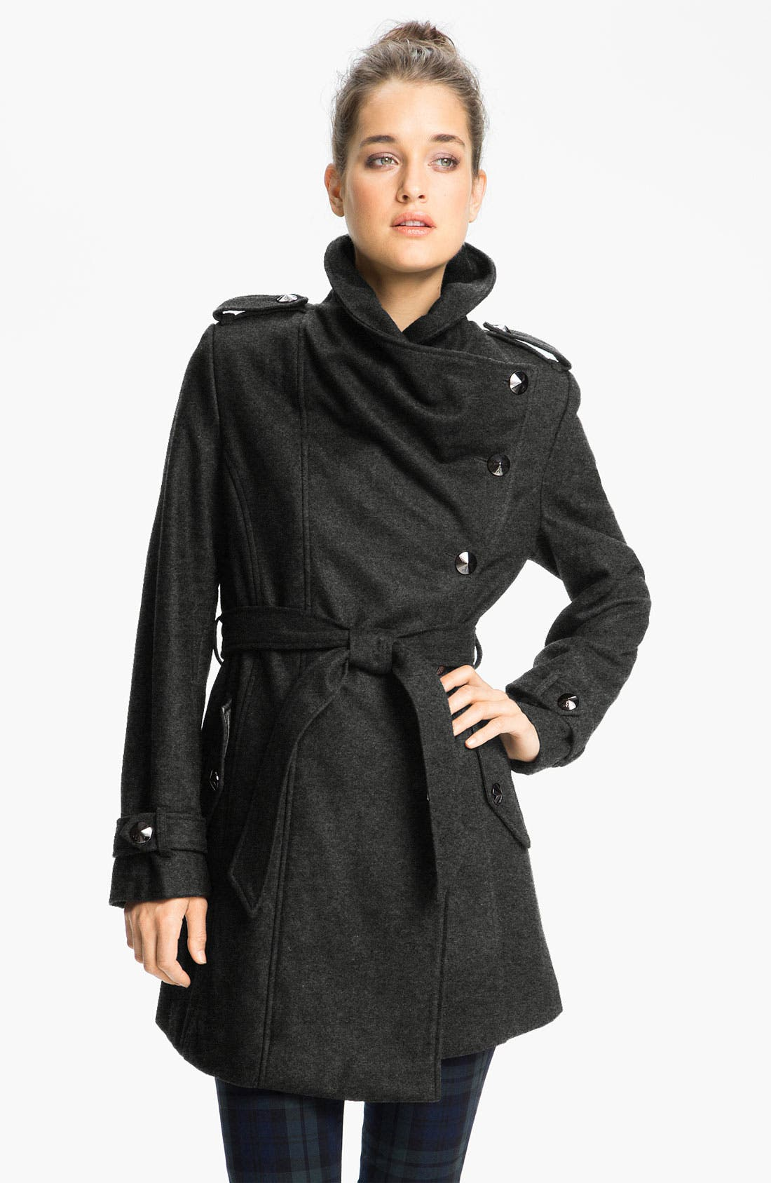 Alternate Image 1 Selected - Sam Edelman Asymmetrical Belted Coat (Online Exclusive)