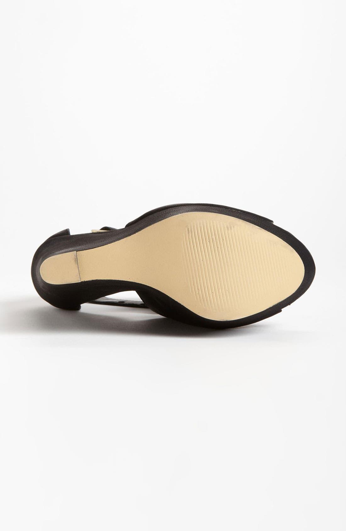 'Xternal' Wedge Sandal,                             Alternate thumbnail 4, color,                             Black