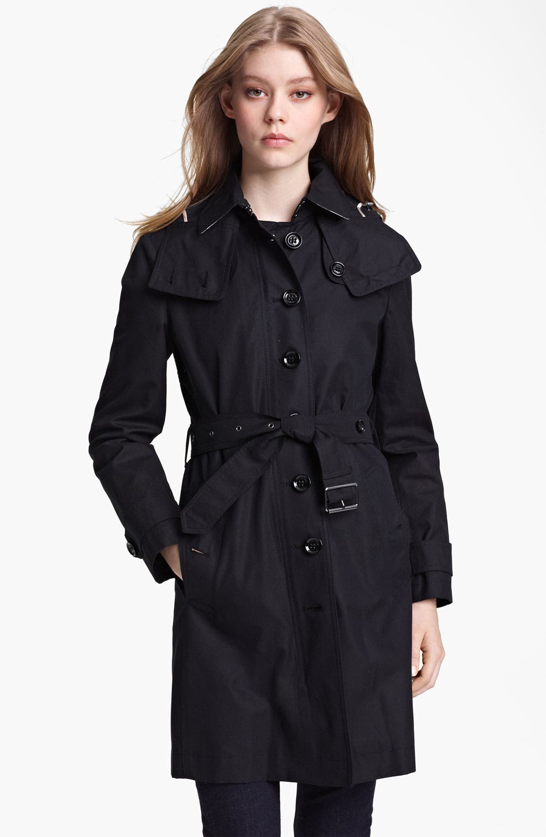 Alternate Image 1 Selected - Burberry Brit Belted Trench Coat