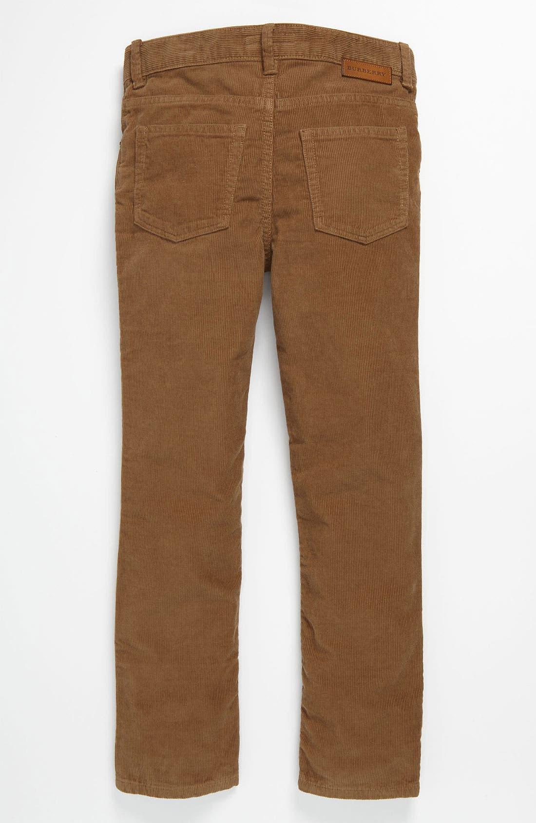 Alternate Image 1 Selected - Burberry Corduroy Pants (Little Boys)