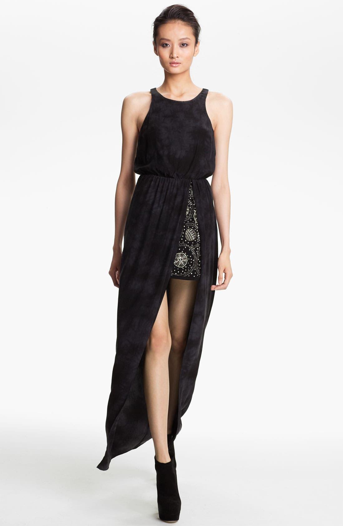 Alternate Image 1 Selected - Gryphon Embellished Silk Maxi Dress