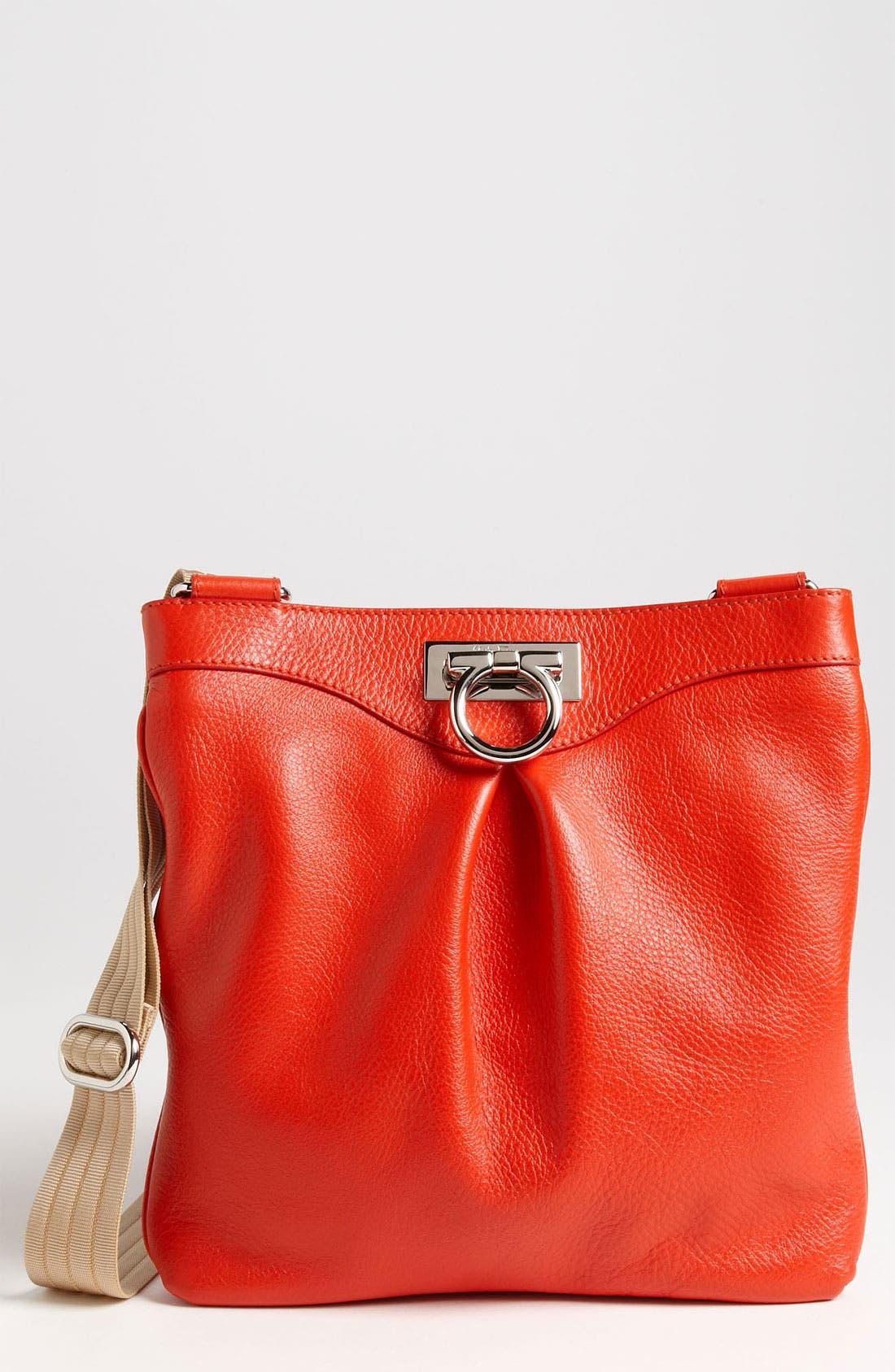 Alternate Image 1 Selected - Salvatore Ferragamo 'Grazielle Vitello' Leather Crossbody Bag