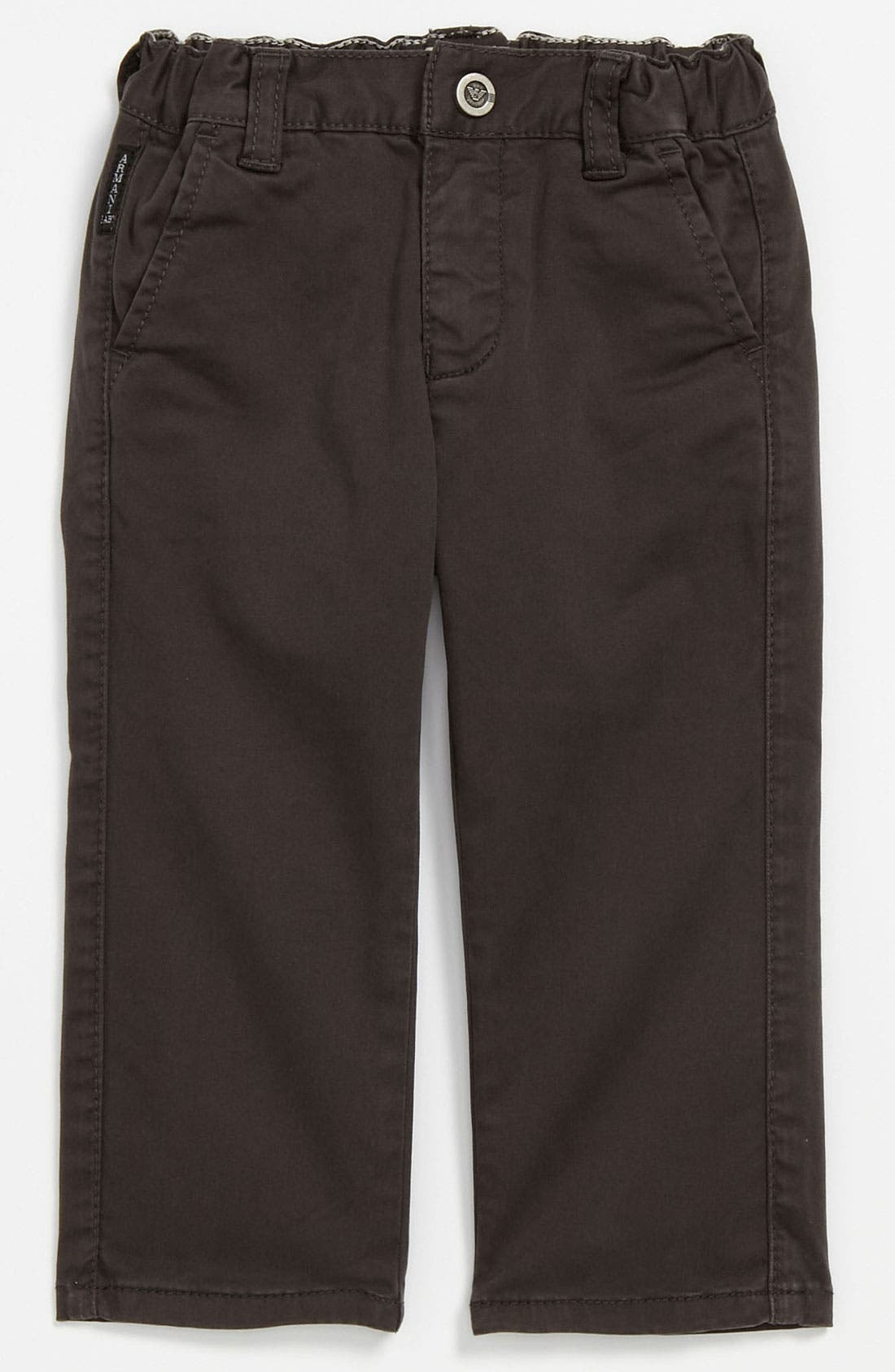 Alternate Image 2  - Armani Junior Skinny Leg Pants (Infant)