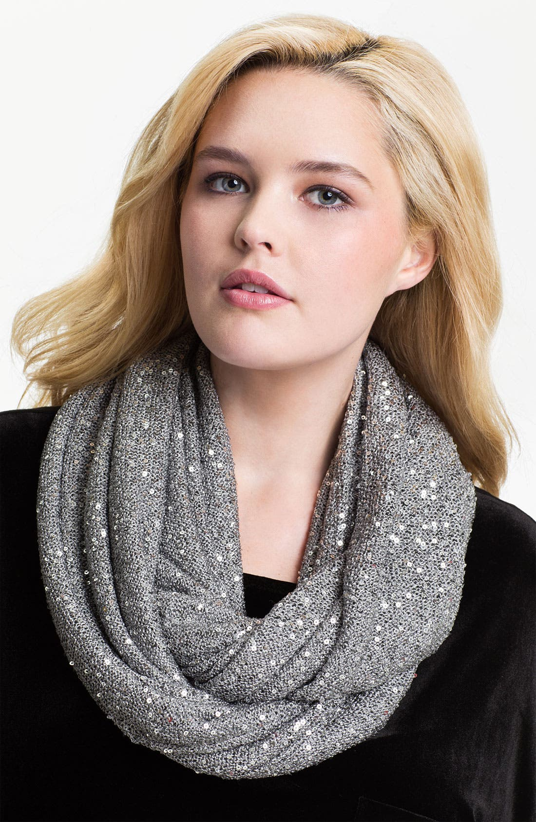 Alternate Image 1 Selected - DKNYC Sequined Infinity Scarf