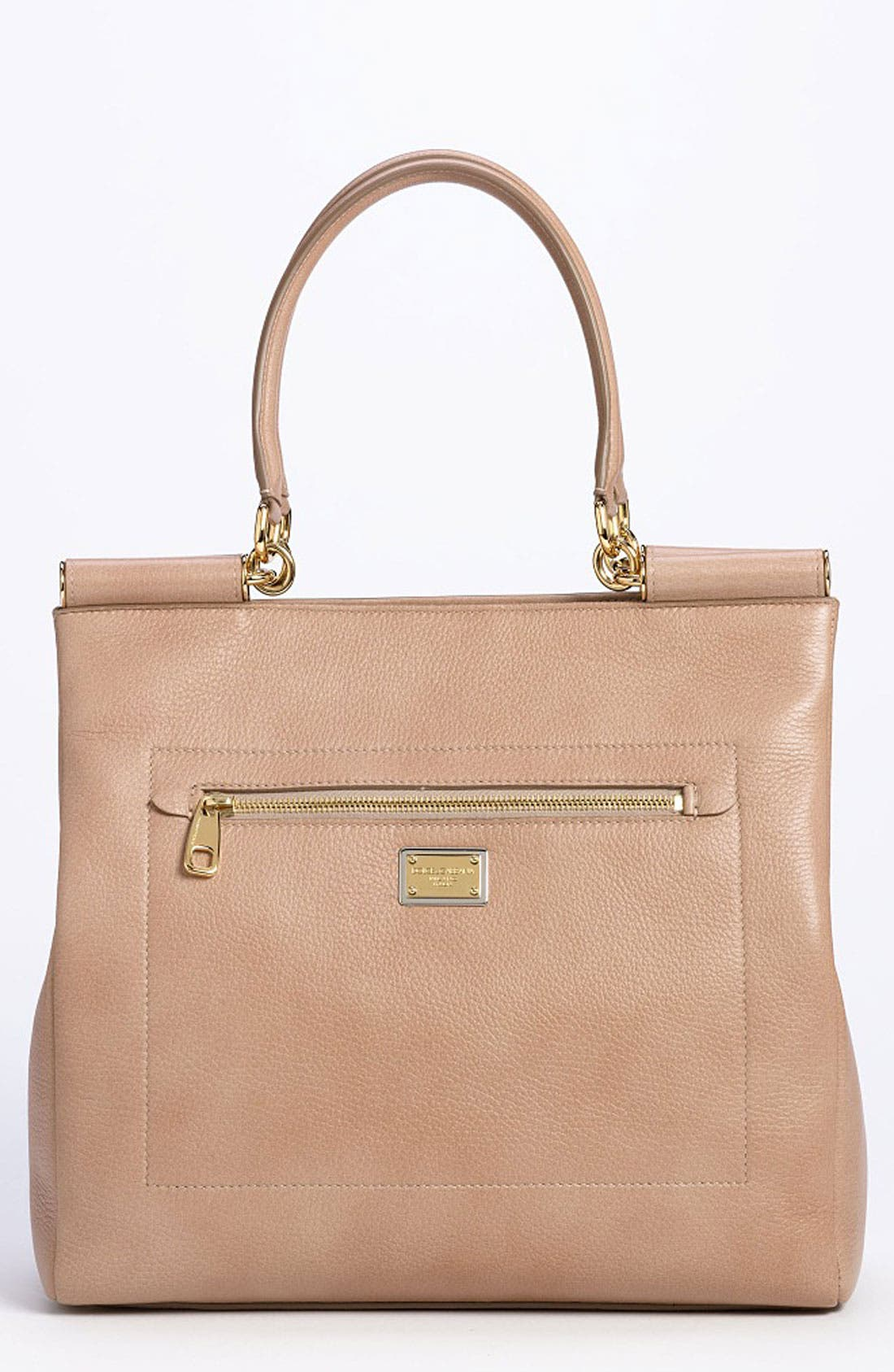 Alternate Image 1 Selected - Dolce&Gabbana 'Miss Sicily' Leather Shopper