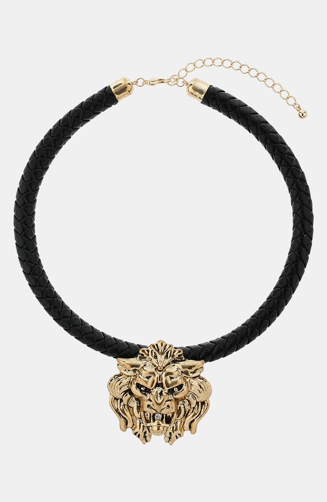 Alternate Image 1 Selected - Topshop Lion's Head Collar Necklace