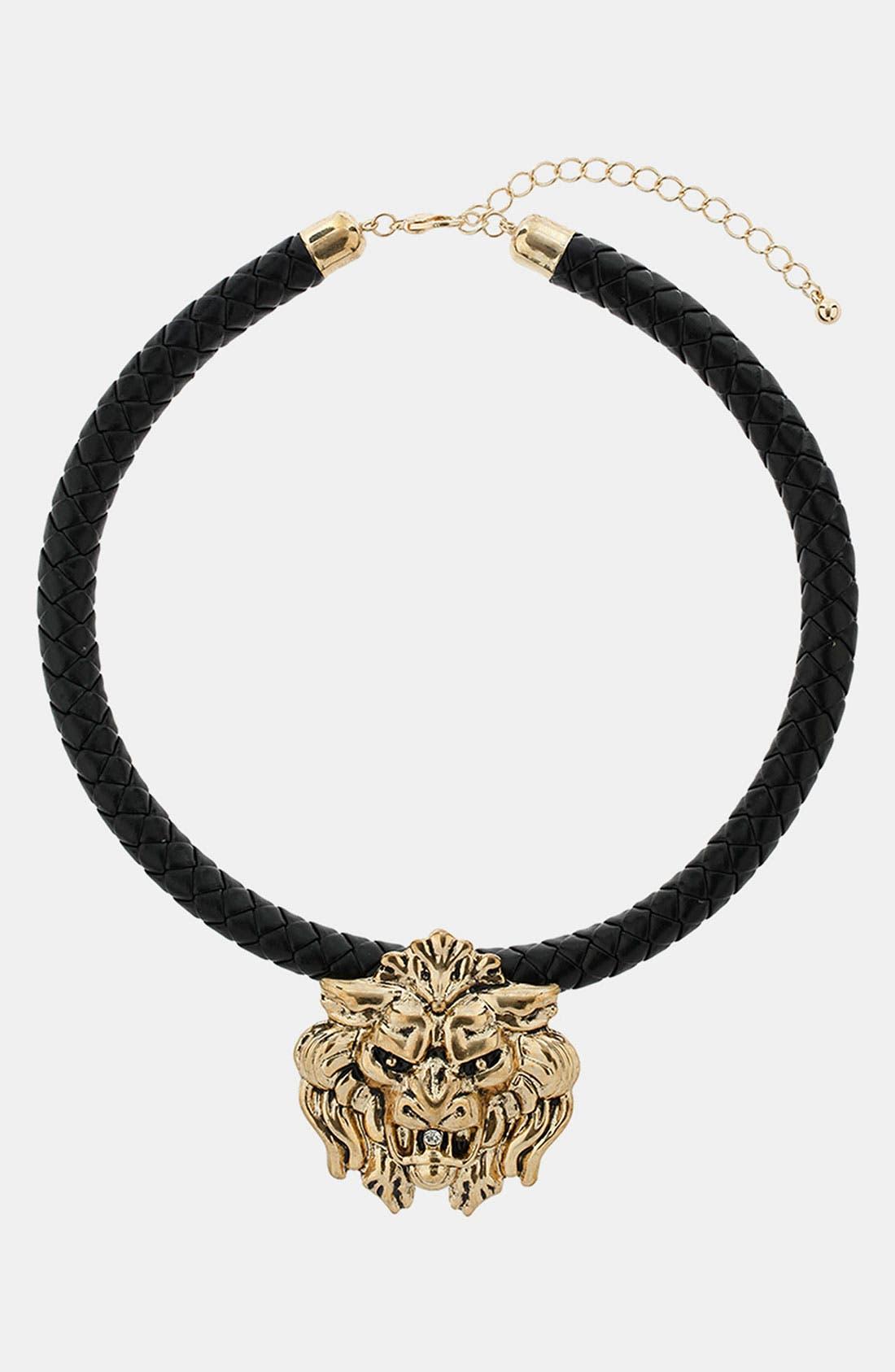 Main Image - Topshop Lion's Head Collar Necklace