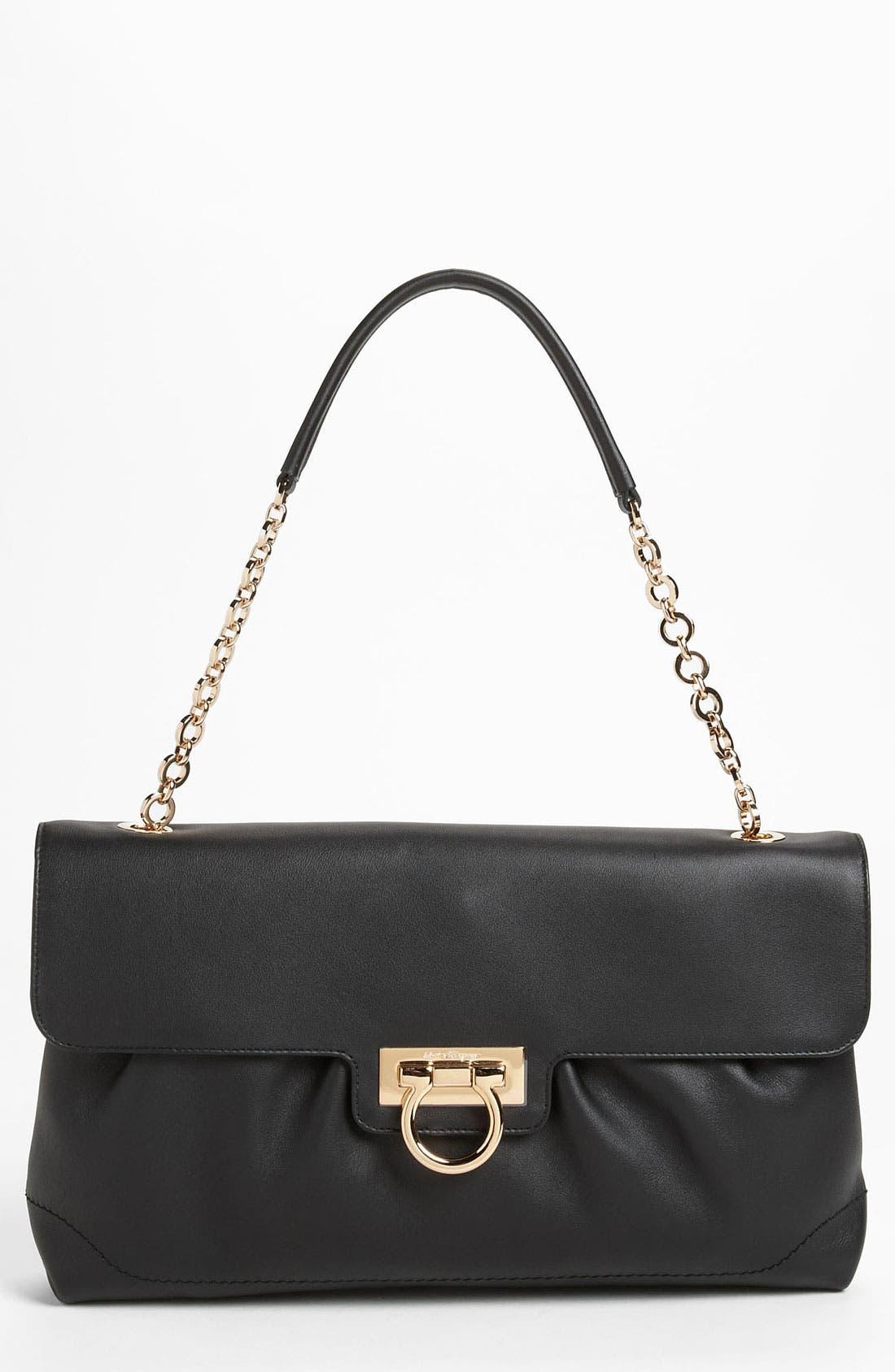 Alternate Image 1 Selected - Salvatore Ferragamo Chain Strap Leather Shoulder Bag