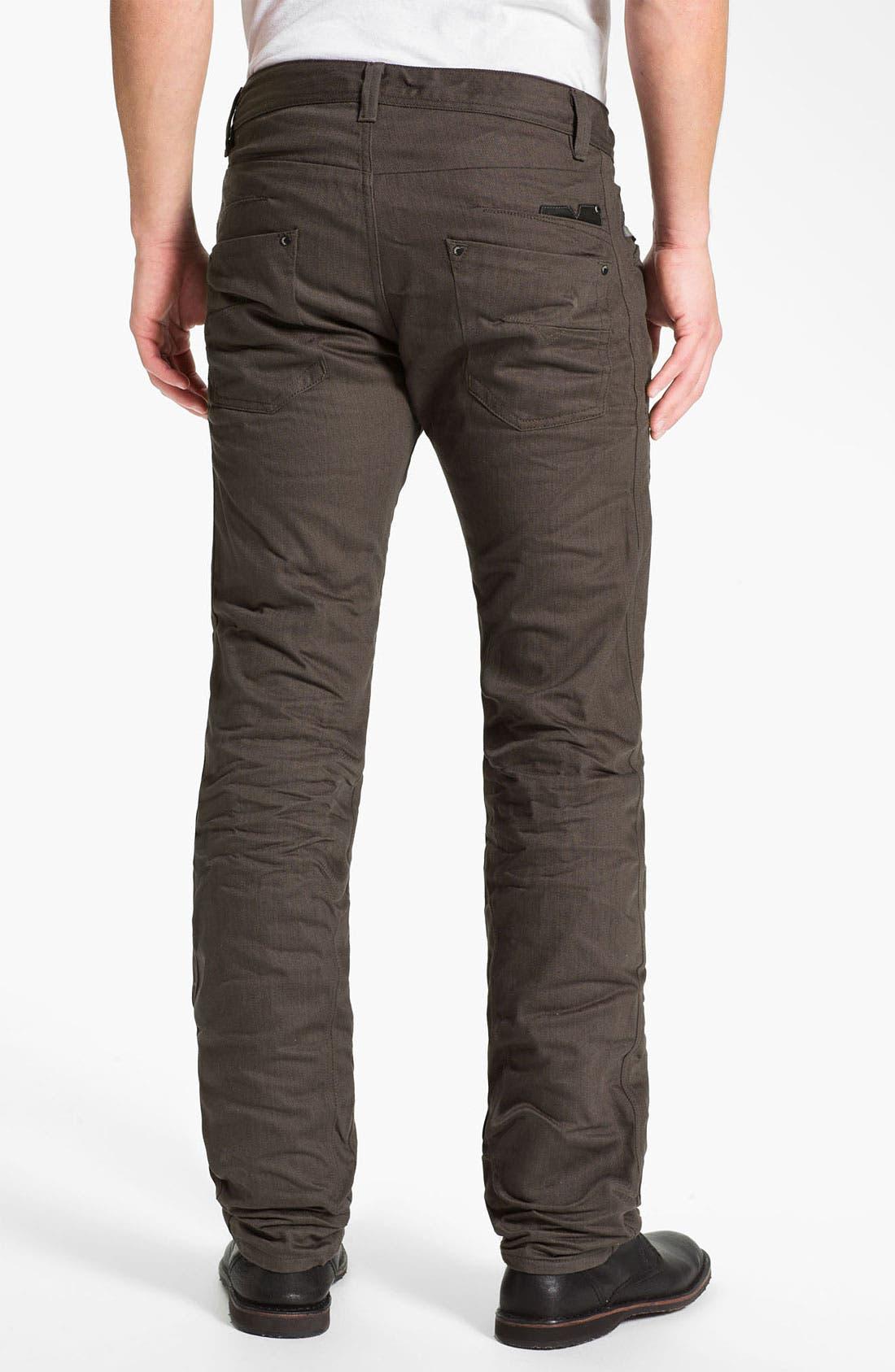 Alternate Image 1 Selected - DIESEL® 'Darron' Slim Tapered Leg Jeans (Deep Black)