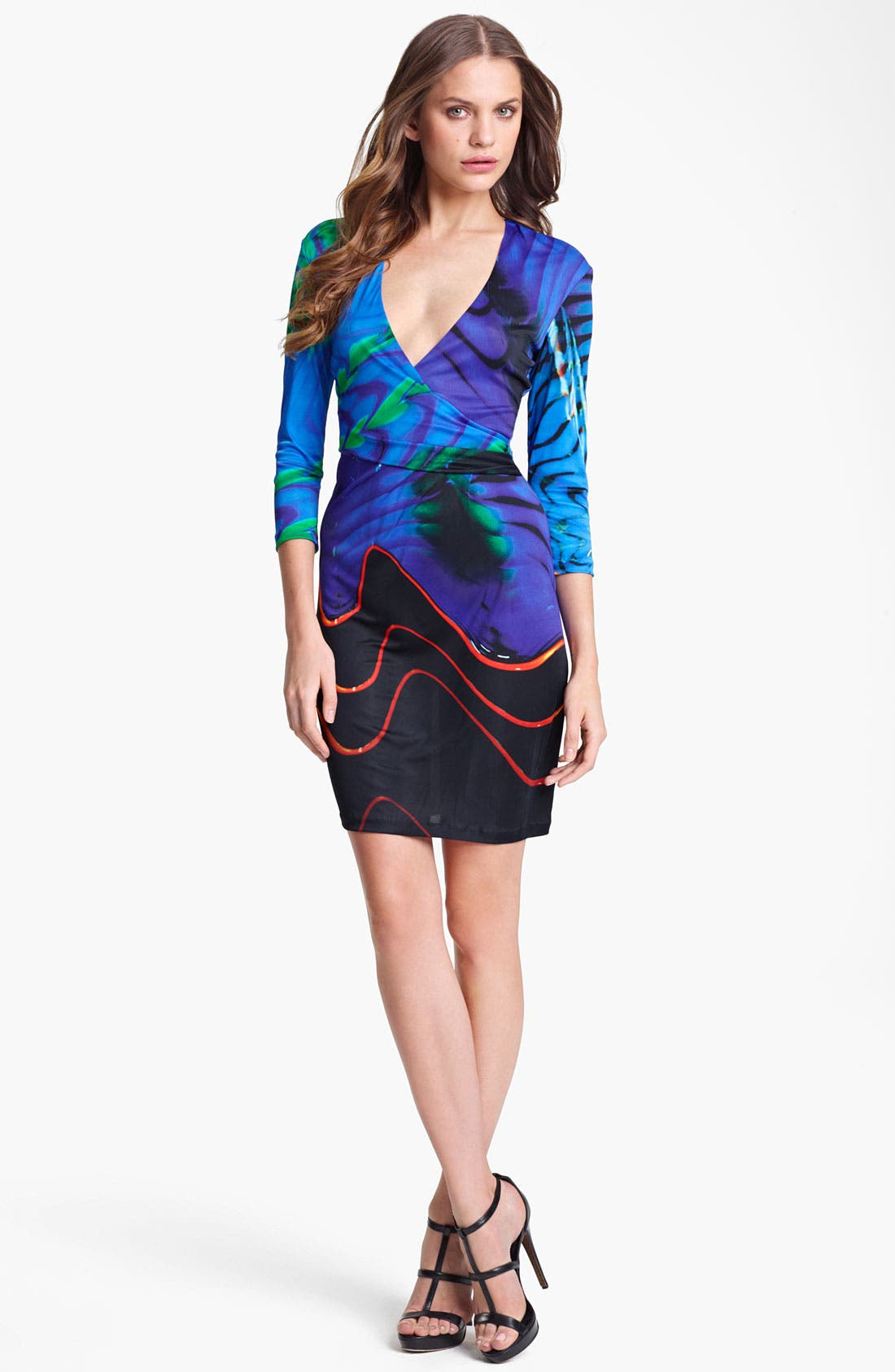 Main Image - Roberto Cavalli Blue Print Dress