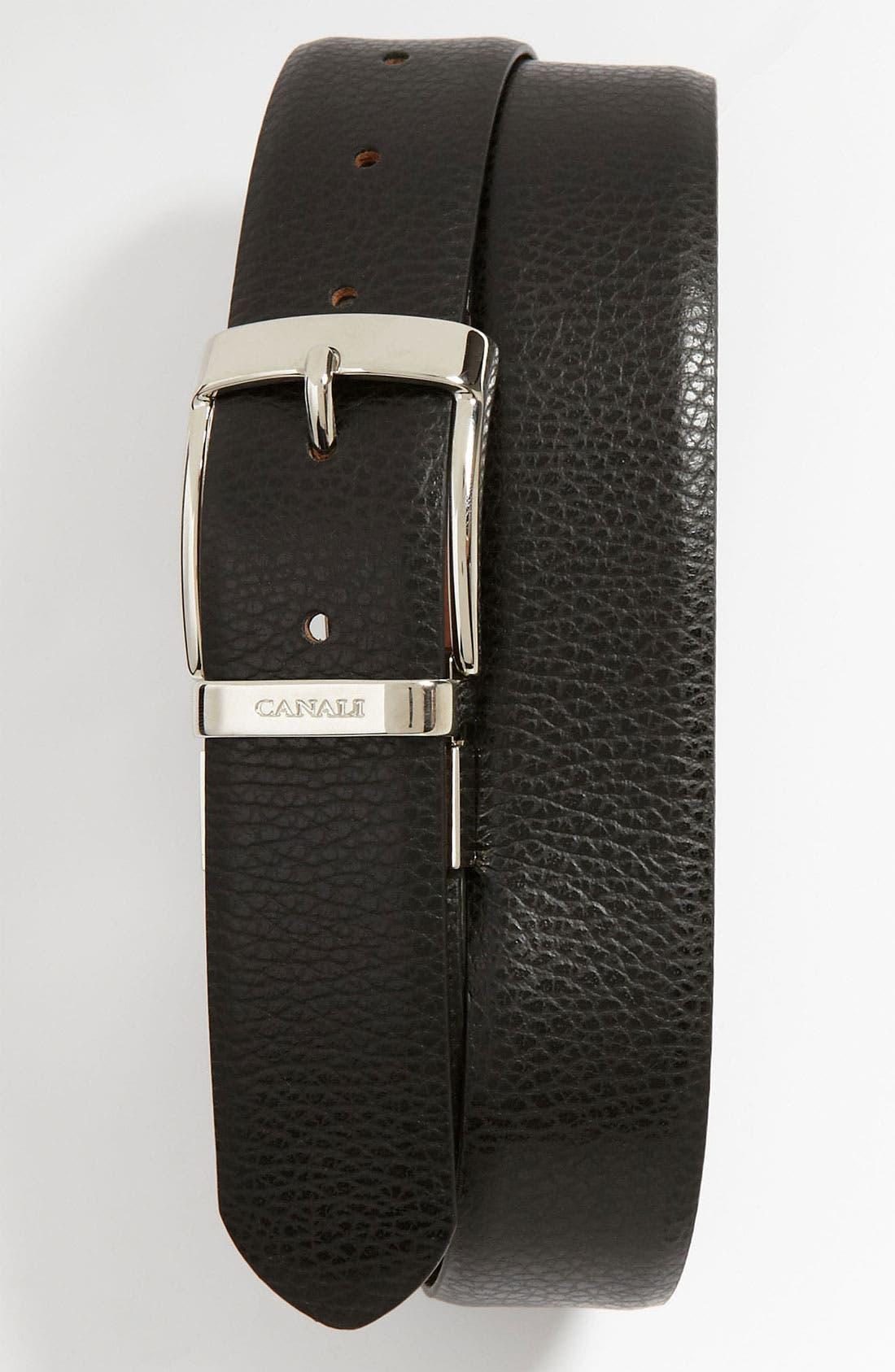 Main Image - Canali 'Dollaro' Reversible Leather Belt