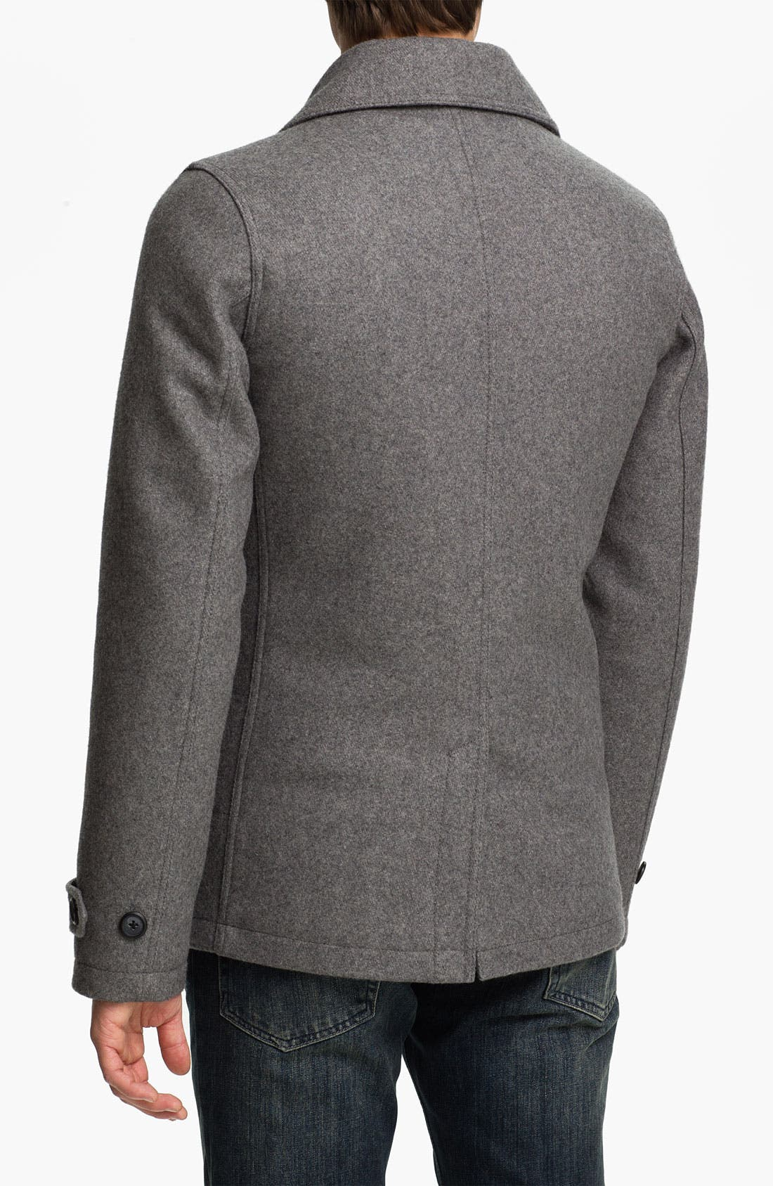 Alternate Image 2  - Topman Double Breasted Peacoat