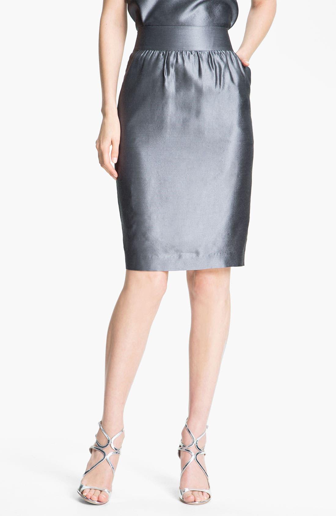 Alternate Image 2  - St. John Collection Taffeta Skirt