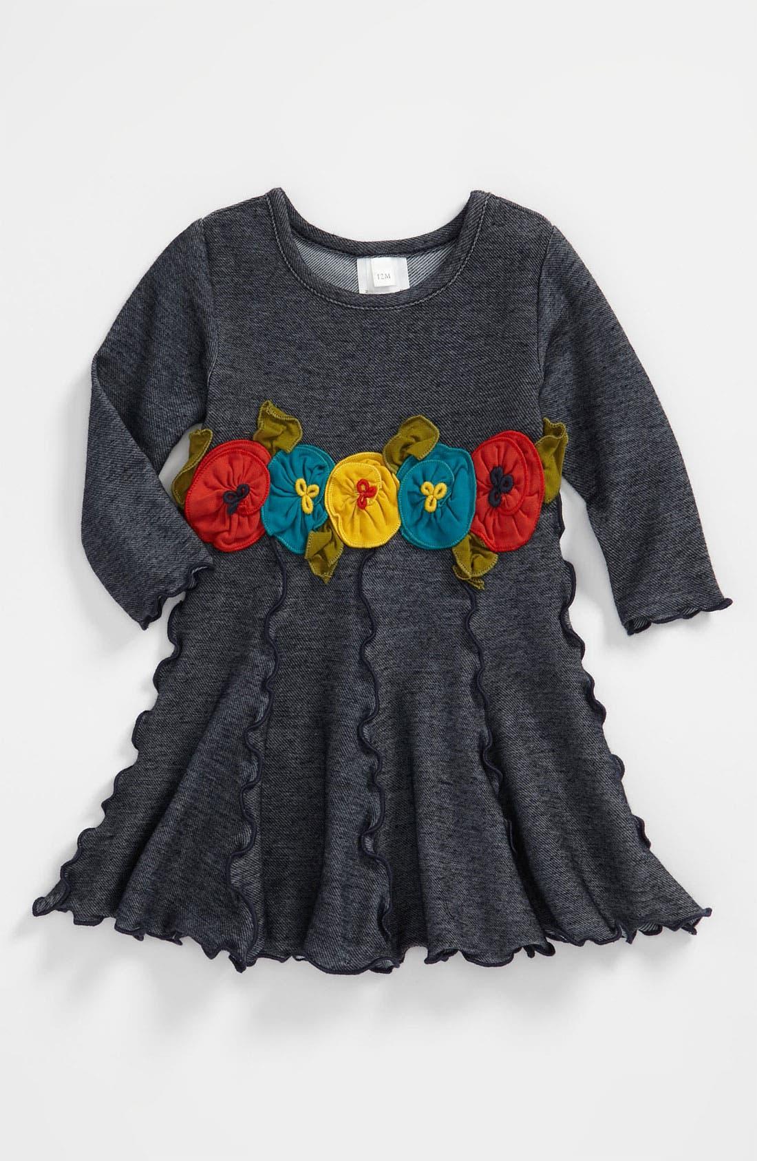 Main Image - Love U Lots Ruffle Trimmed Dress (Toddler)