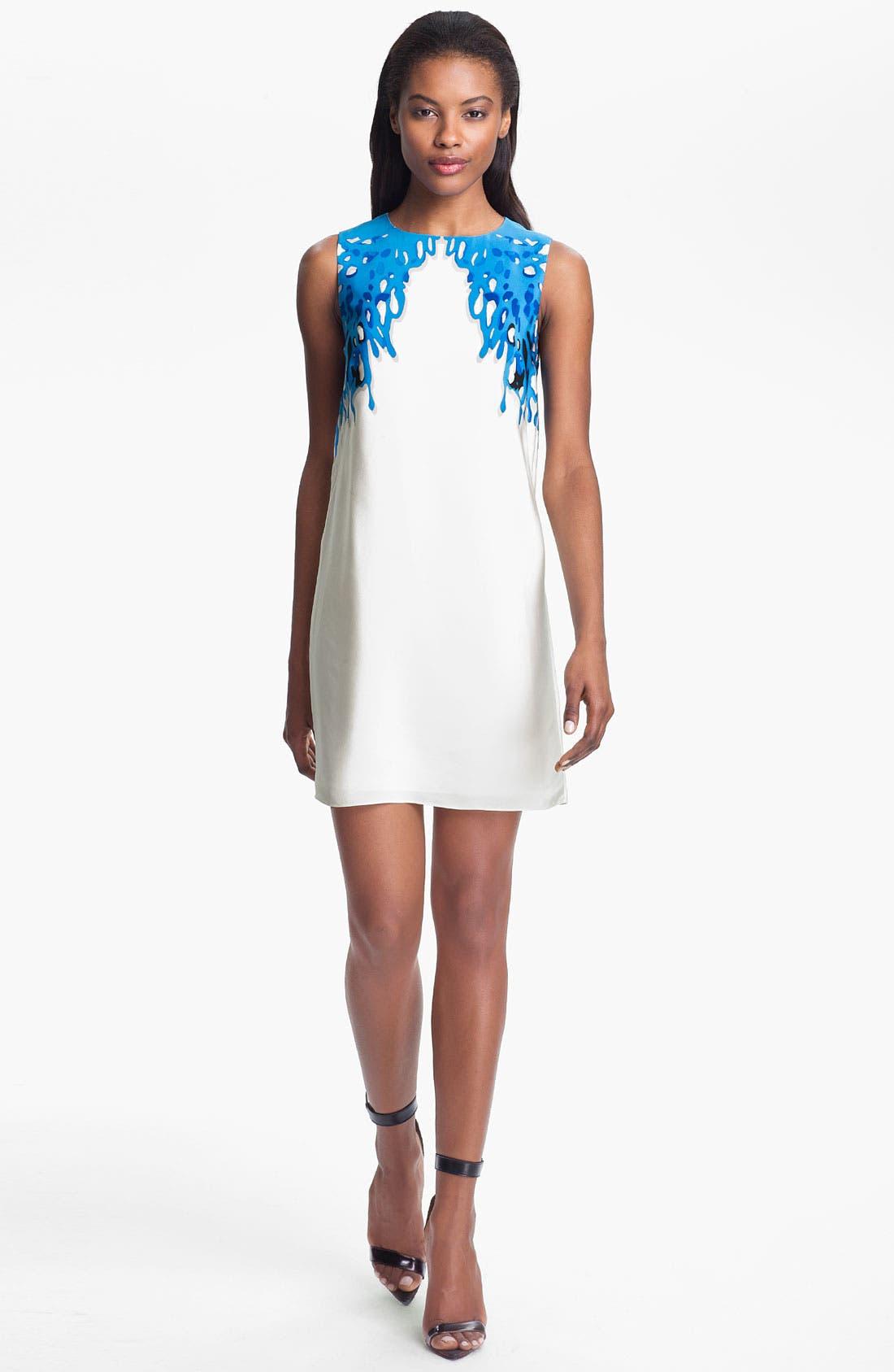 Alternate Image 1 Selected - Tibi Coral Print Silk Dress