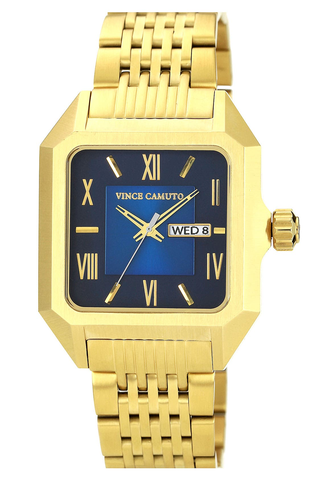Main Image - Vince Camuto Square Dial Bracelet Watch, 39mm