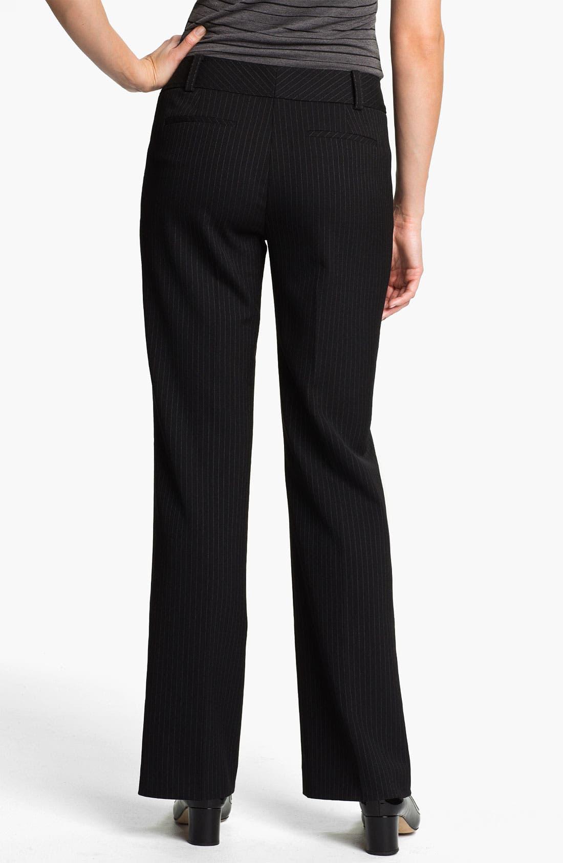 Alternate Image 2  - Halogen® 'Taylor' Curvy Fit Pinstripe Pants