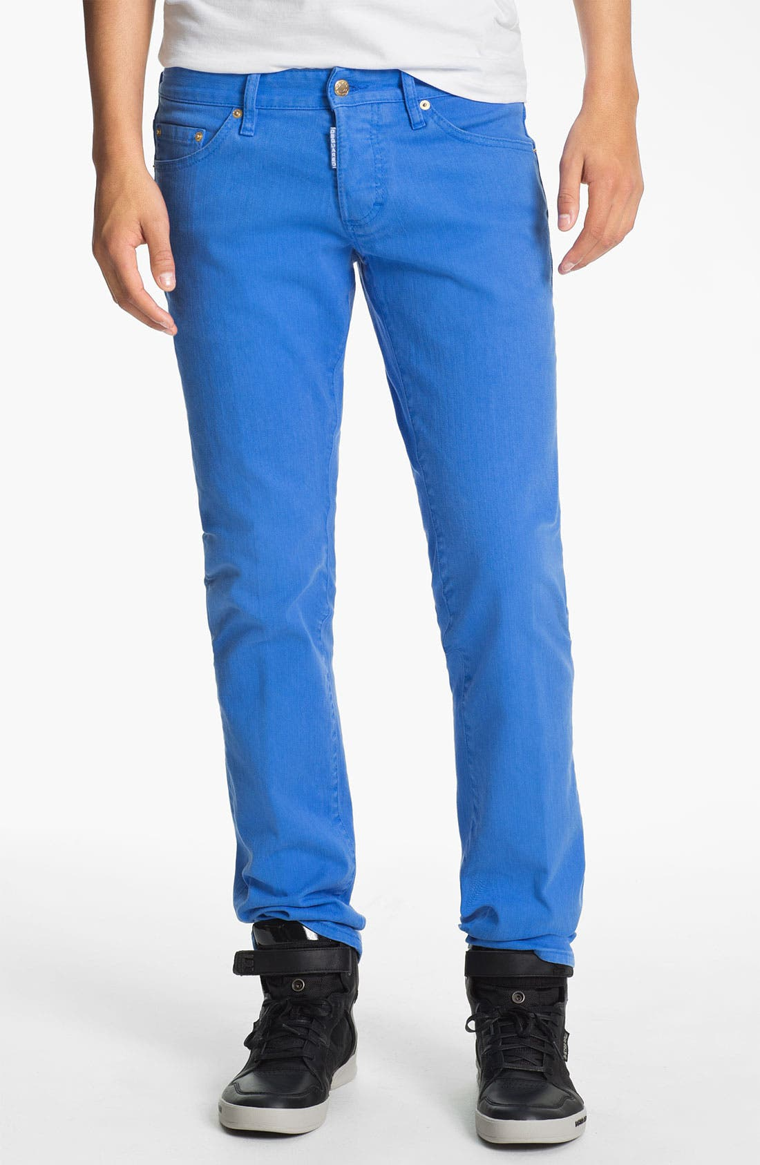 Alternate Image 1 Selected - Dsquared2 Garment Dyed Slim Fit Jeans
