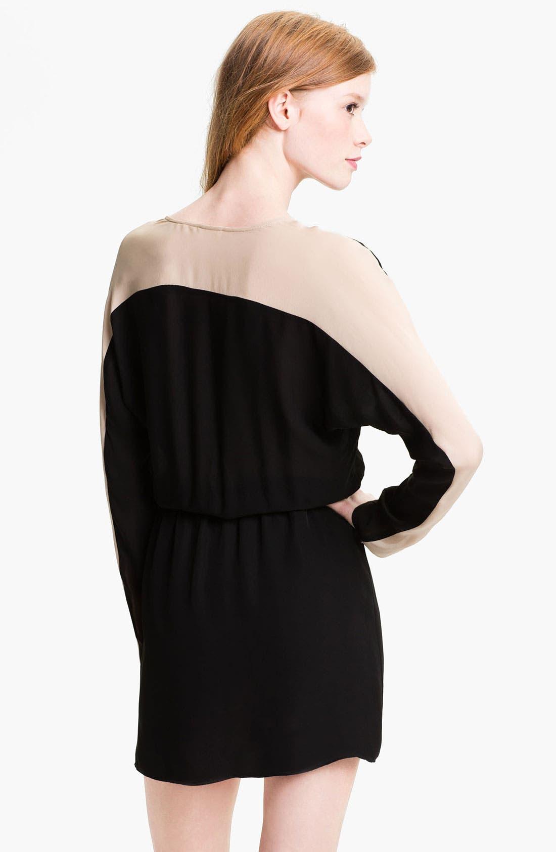 Alternate Image 2  - Parker Colorblock Silk Surplice Dress