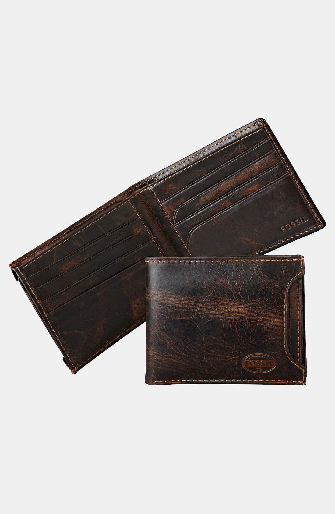 Alternate Image 1 Selected - Fossil 'Norton' Wallet with Sliding ID Window