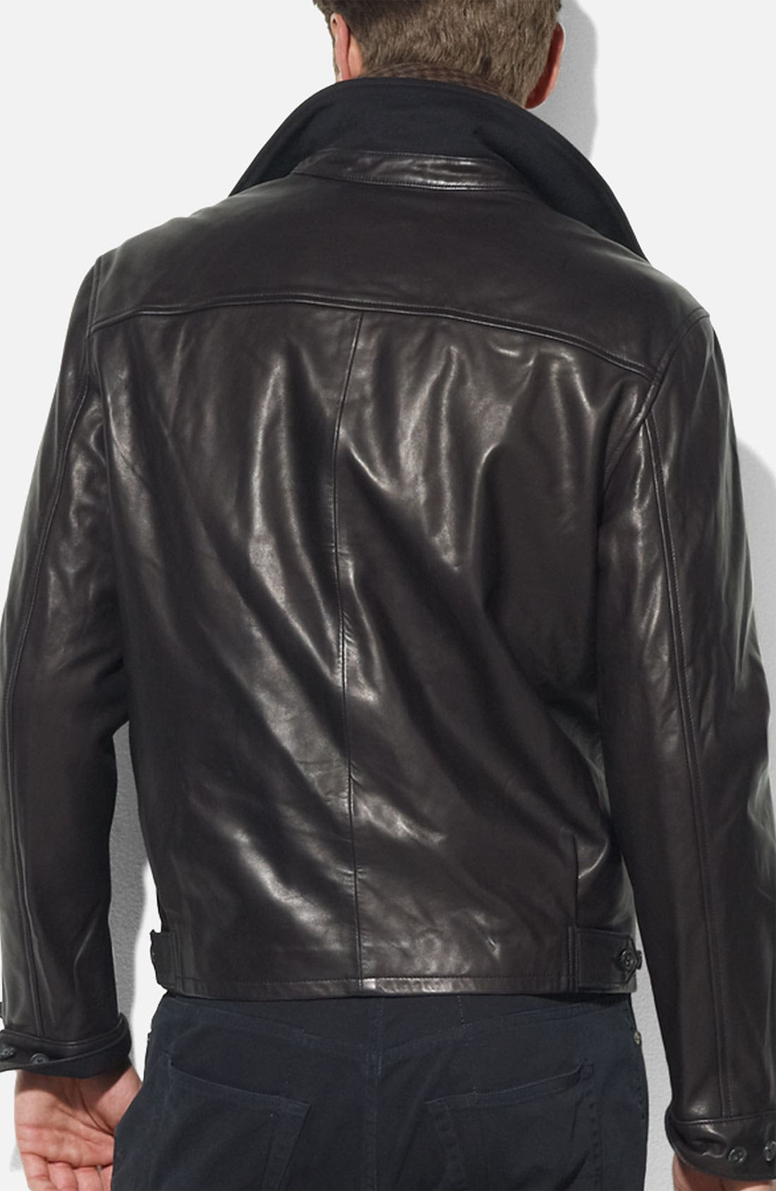 Alternate Image 2  - Polo Ralph Lauren Leather Jacket