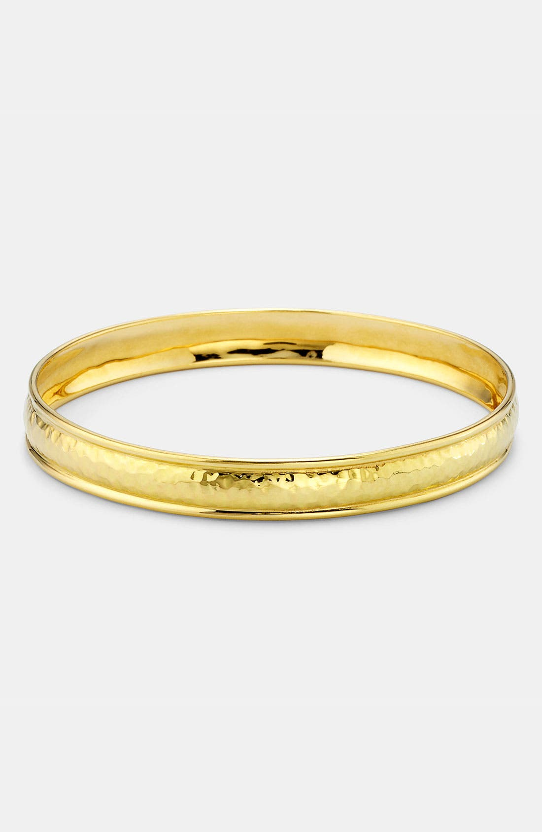 Alternate Image 1 Selected - Ippolita 'Crinkle' Skinny Hammered 18k Gold Bangle