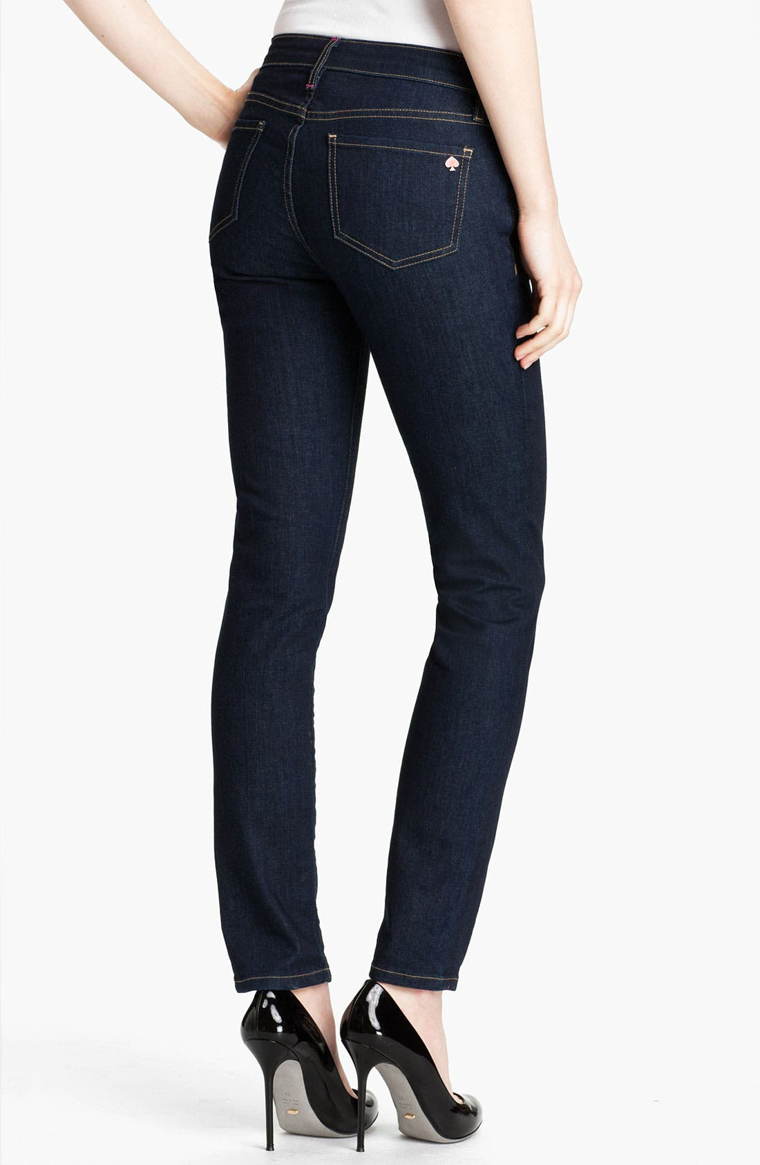 Alternate Image 2  - kate spade new york 'broome street' skinny jeans (Indigo Wash) (Online Only)