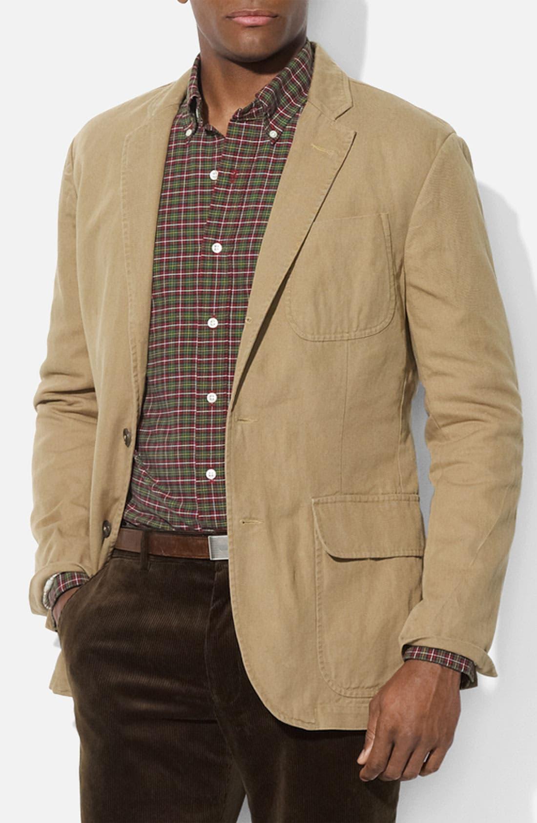 Alternate Image 1 Selected - Polo Ralph Lauren Cotton & Linen Sportcoat