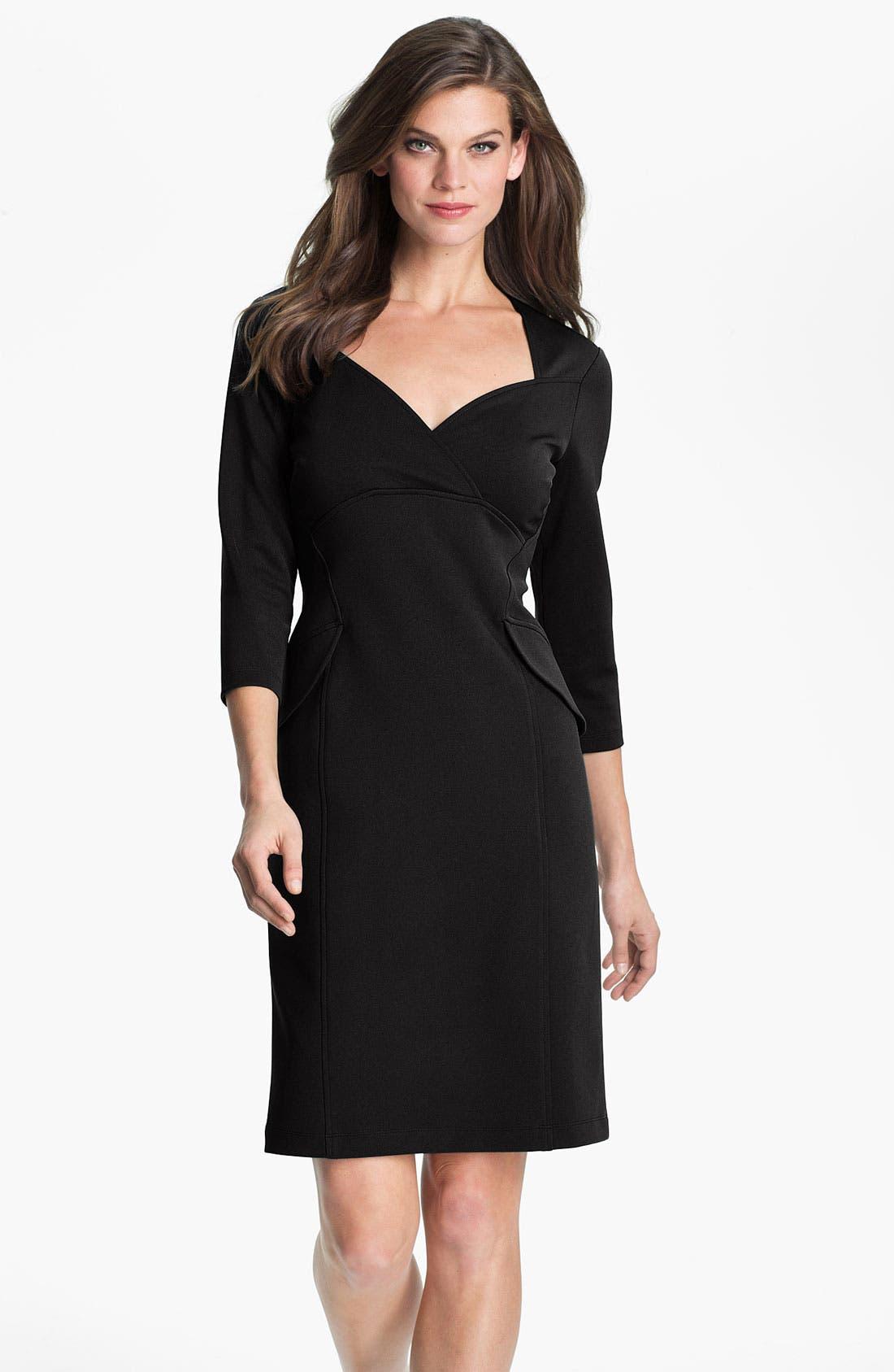 Alternate Image 1 Selected - Maggy London Side Peplum Sheath Dress