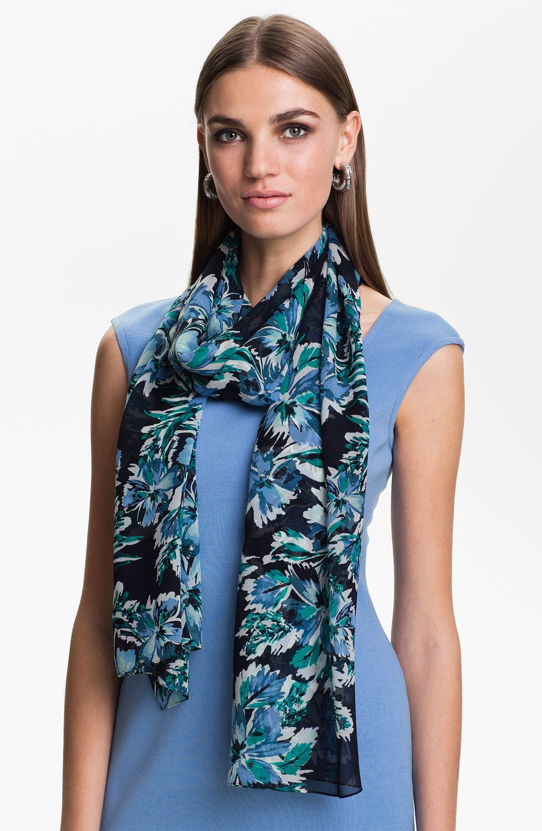 Main Image - St. John Collection Hibiscus Print Scarf
