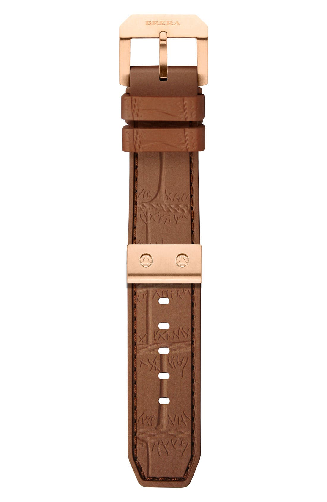 Main Image - 22MM CROC EMBOSSED SILICONE STRAP W/ RG HARDWARE