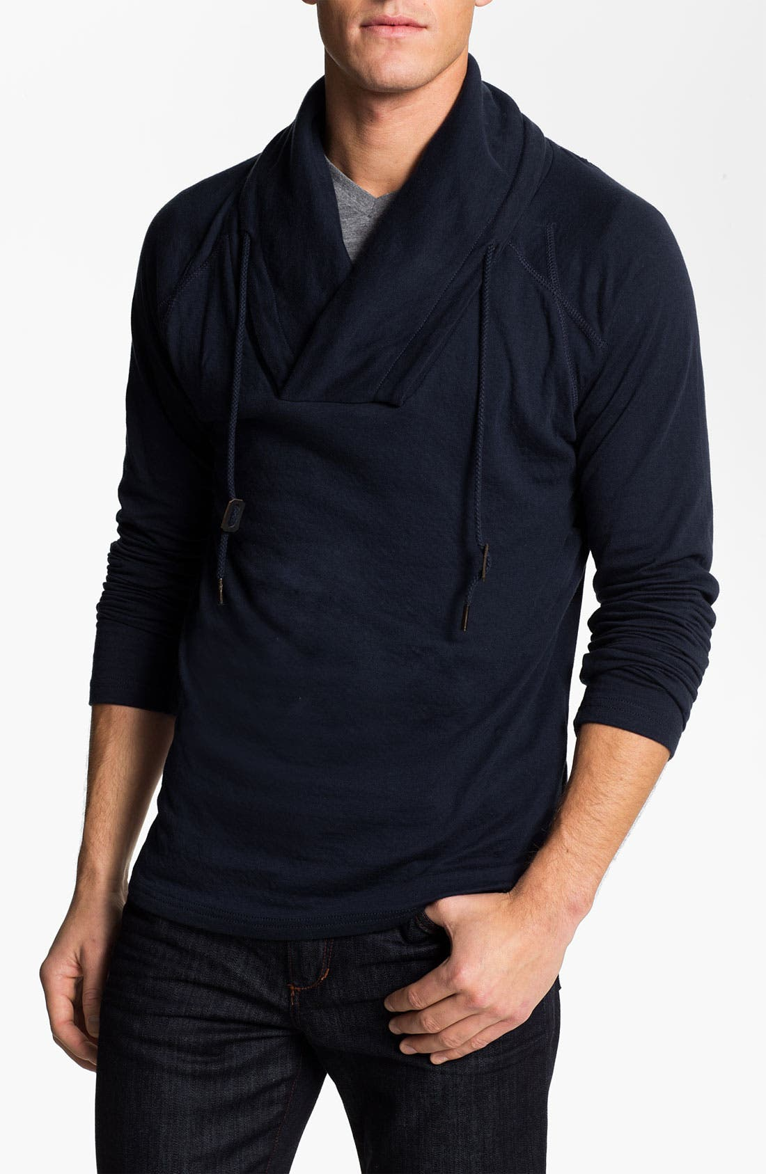 Main Image - J.C. Rags Cowl Neck Jersey Cotton Pullover