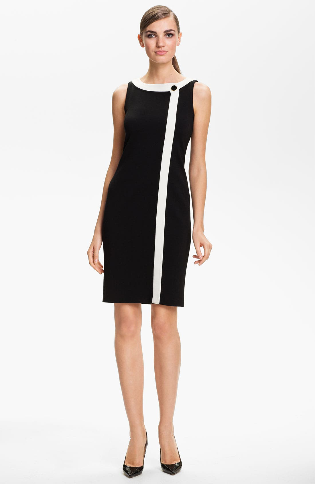 Main Image - St. John Collection Wrap Front Milano Knit Dress